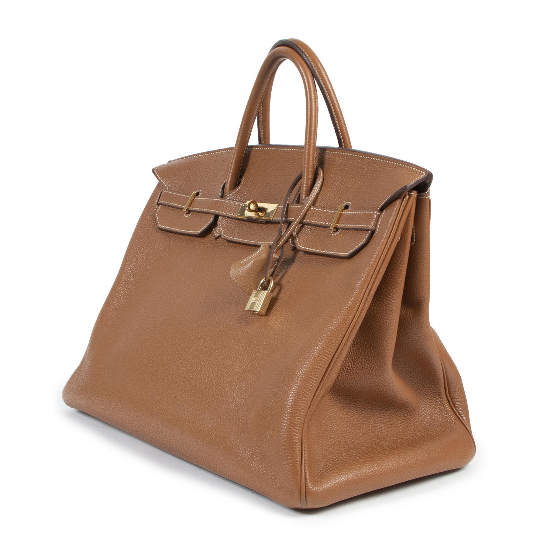 Hermès Birkin 40 Togo Gold GHW tweedehands designer handtassen en accessoires aan de beste prijs