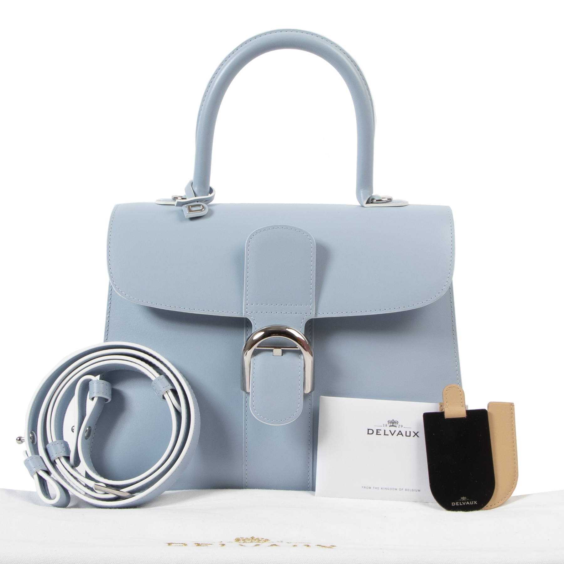 Delvaux Skyway Box Calf Brillant MM + Strap