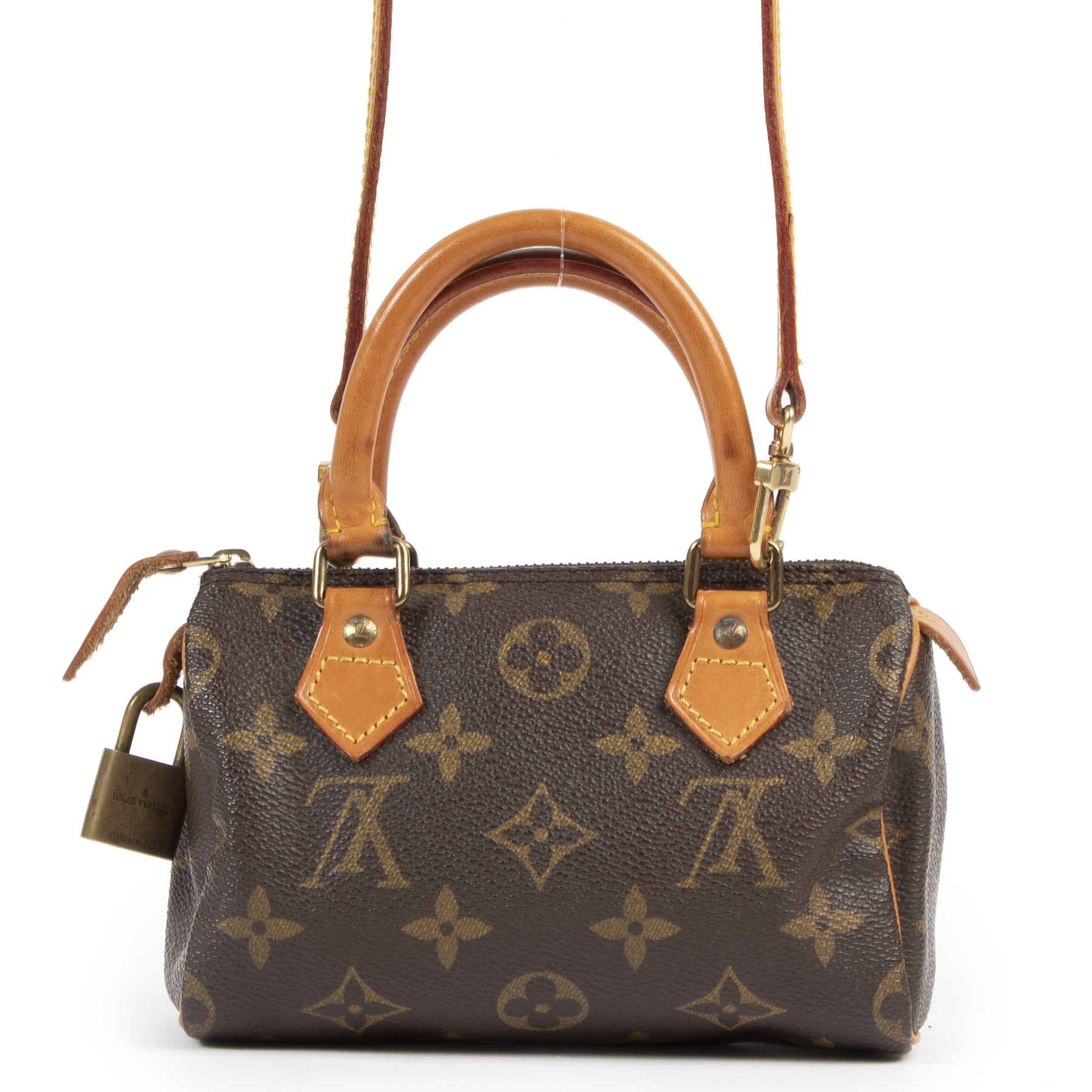 Authentic secondhand Louis Vuitton Mini Speedy Bandoulière designer bags fashion luxury vintage webshop safe secure online shopping