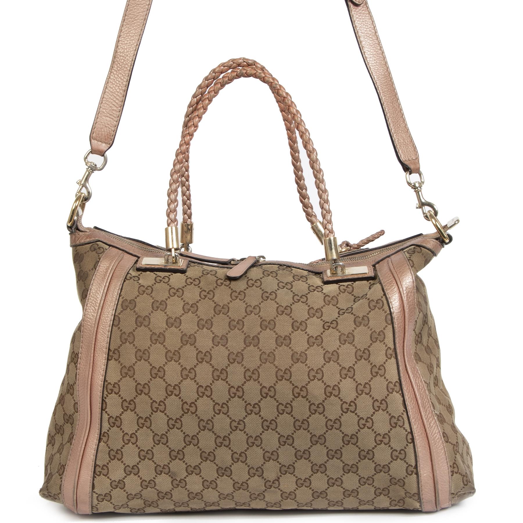 Koop en verkoop uw authentieke Gucci GG Canvas Bella Tote Satchel Bag