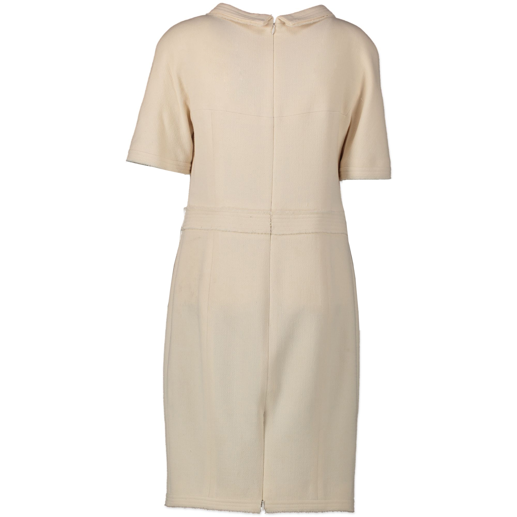 Authentic secondhand Chanel Cream Dress - Size 40 designer clothing accessories bags fashion luxury vintage webshop safe secure online shopping