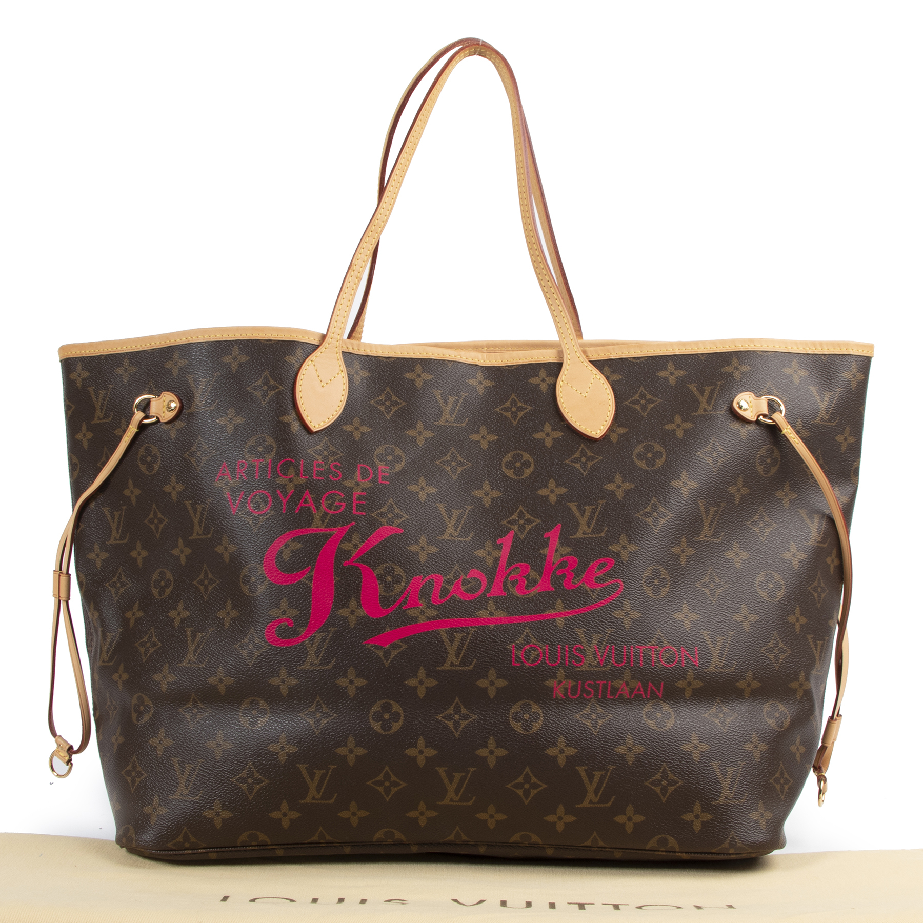 Authentic secondhand Louis Vuitton Limited Edition Monogram 'Knokke' Neverfull Bag designer bags fashion luxury vintage webshop safe secure online shopping