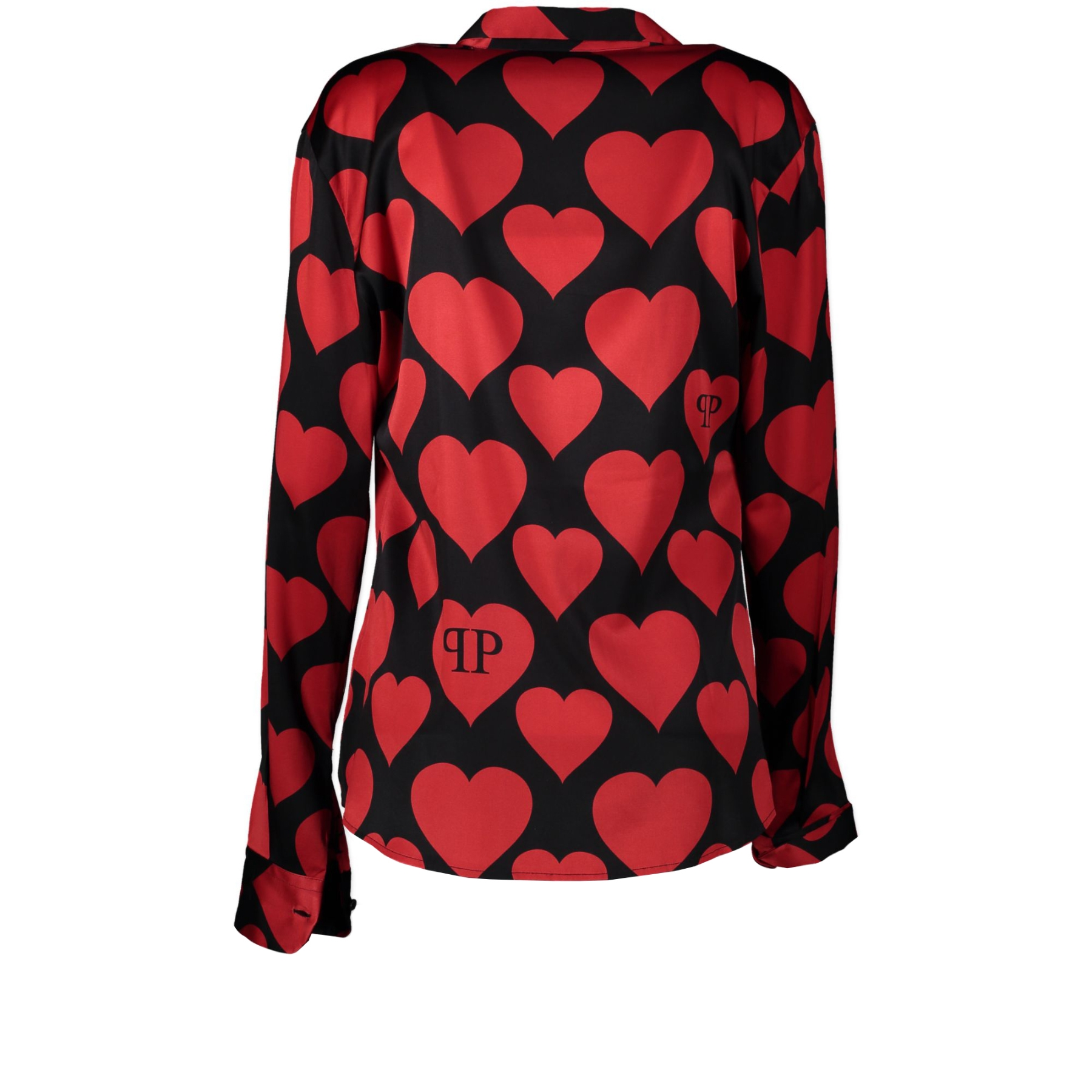 Authentic secondhand Philipp Plein Couture Black and Red Blouse - Size M designer fashion luxury vintage webshop safe secure online shopping