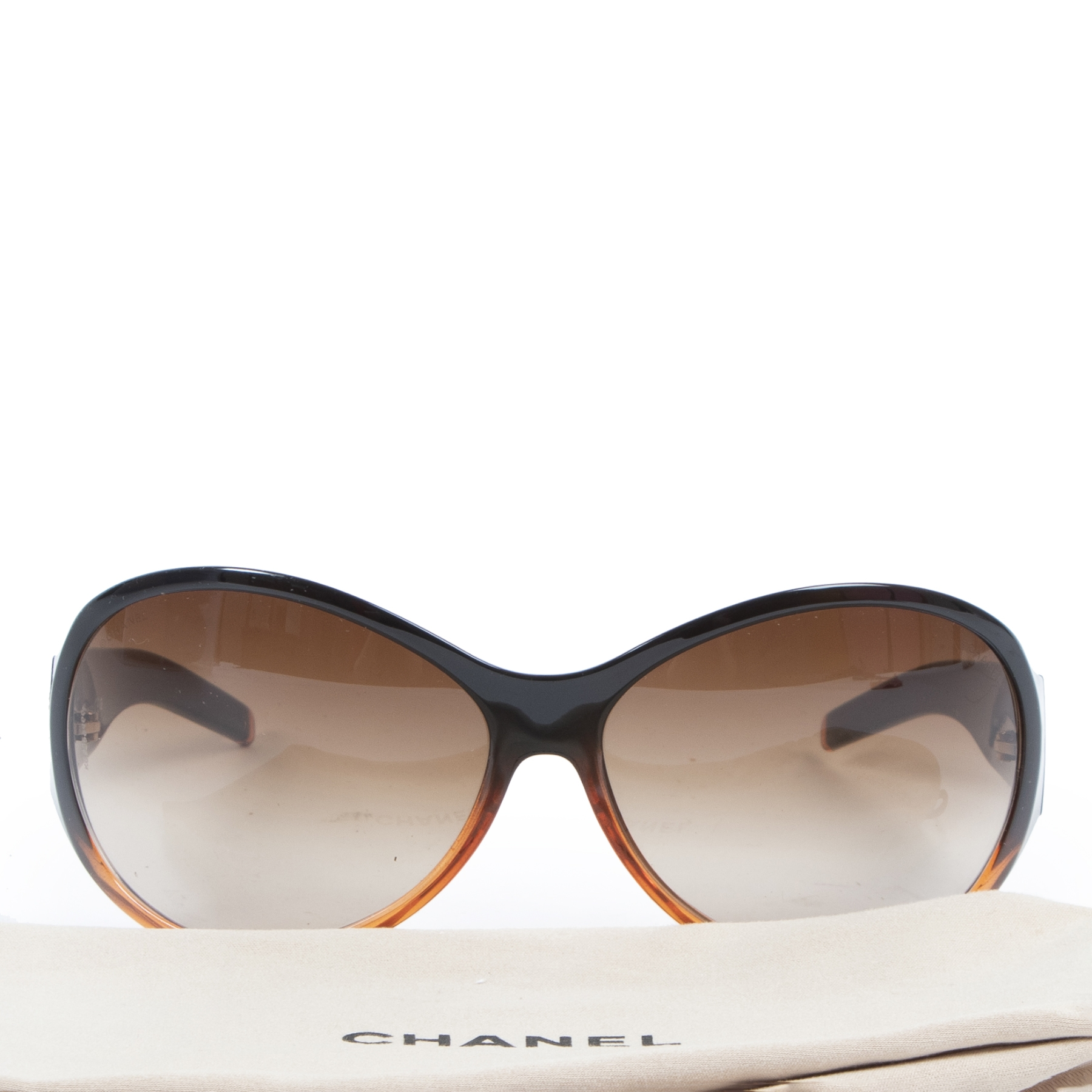 Authentic secondhand Chanel Brown Sunglasses designer accessories fashion luxury vintage webshop safe secure online shopping