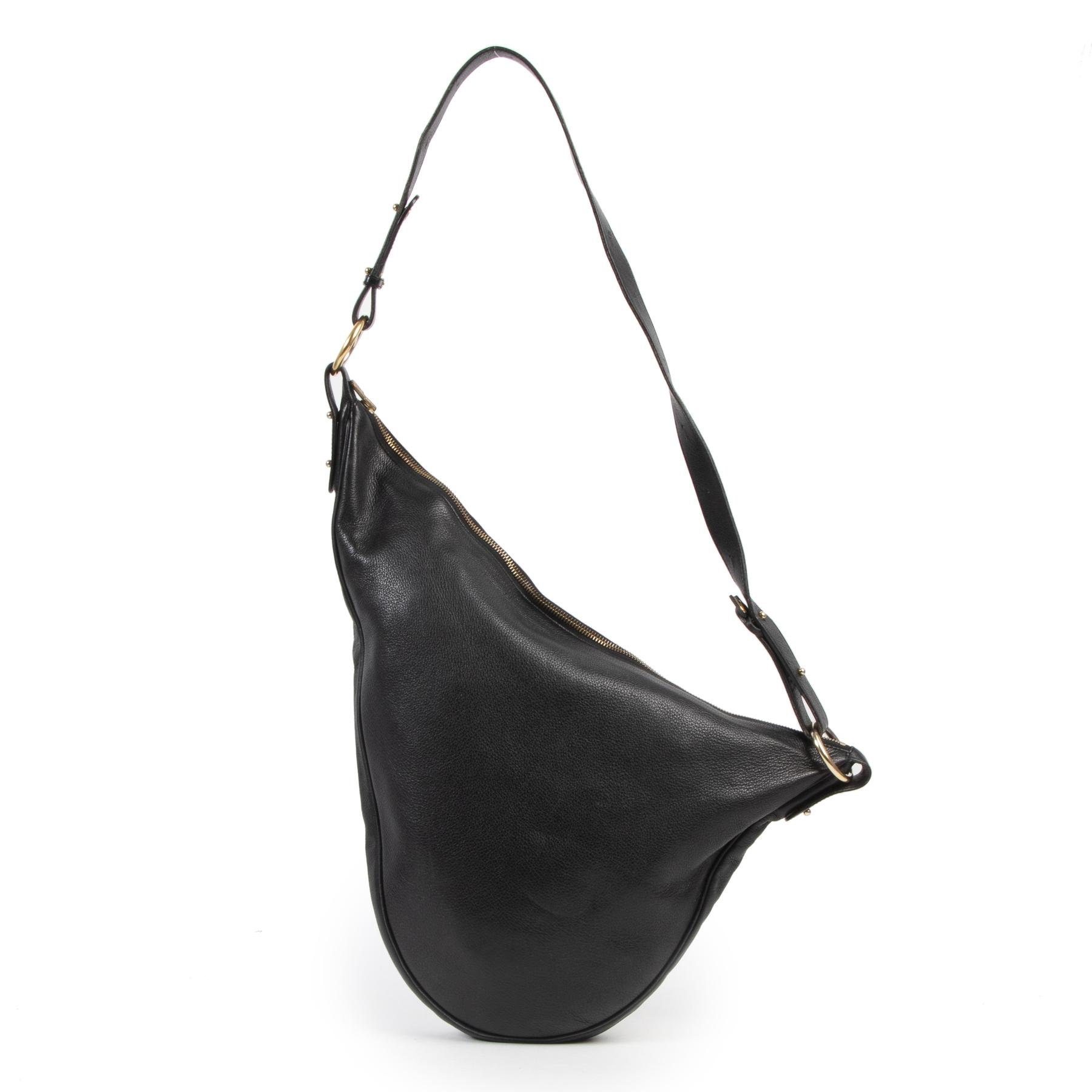 Delvaux Black Saddle Sling Bag kopen en verkopen aan de beste prijs