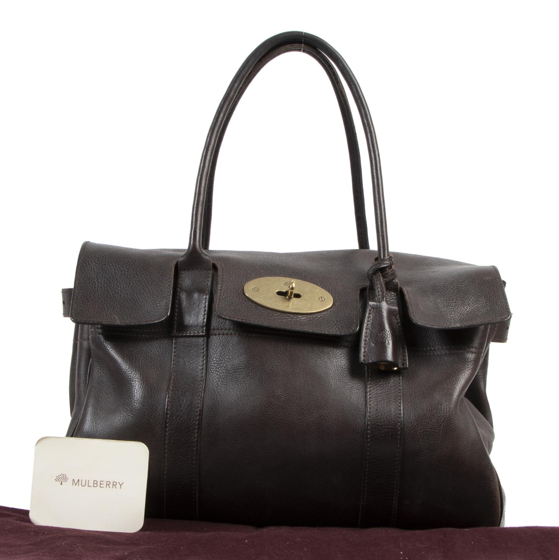 koop veilig online Mulberry Brown Bayswater Bag