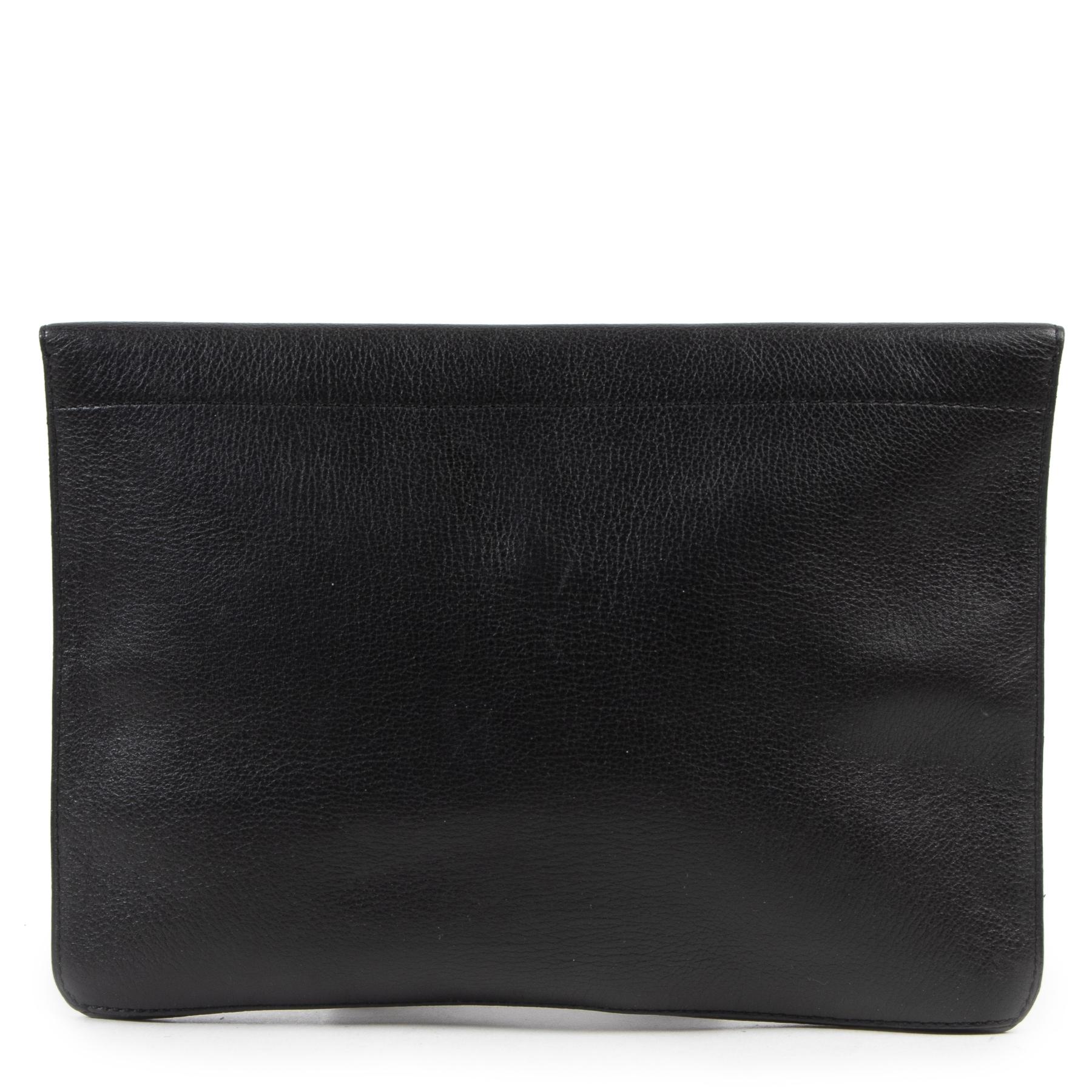 shop safe onine Delvaux Black Enveloppe Clutch