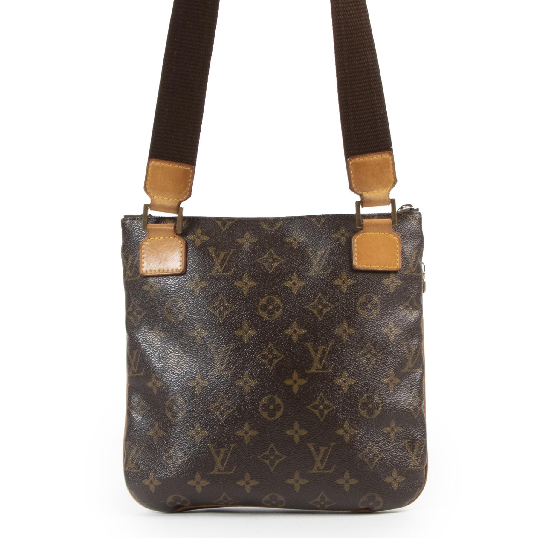 Authentieke Tweedehands Louis Vuitton Monogram Canvas Bosphore Messenger Bag juiste prijs veilig online shoppen luxe merken webshop winkelen Antwerpen België mode fashion