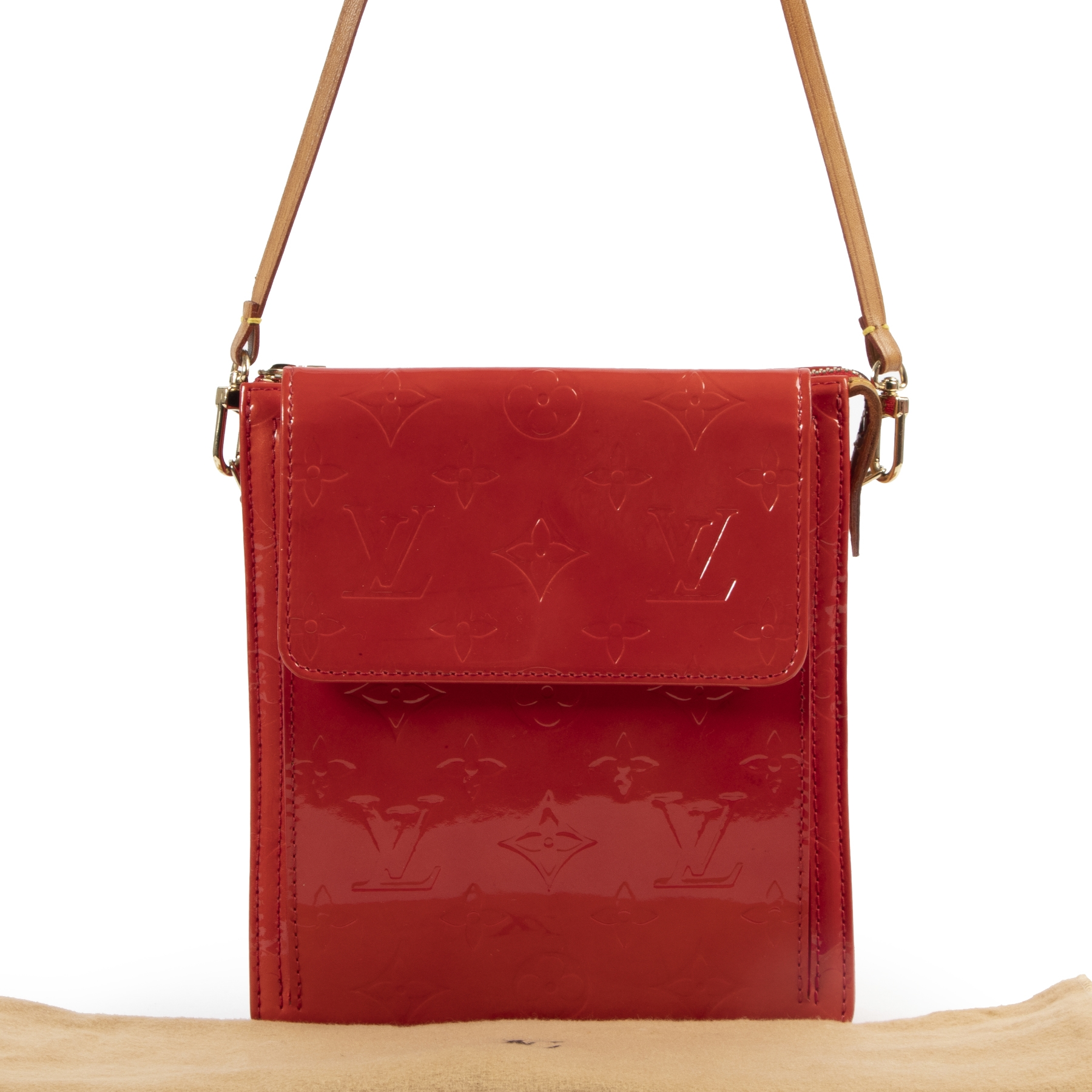 Louis Vuitton Red Patent Mott Shoulder Bag for sale online