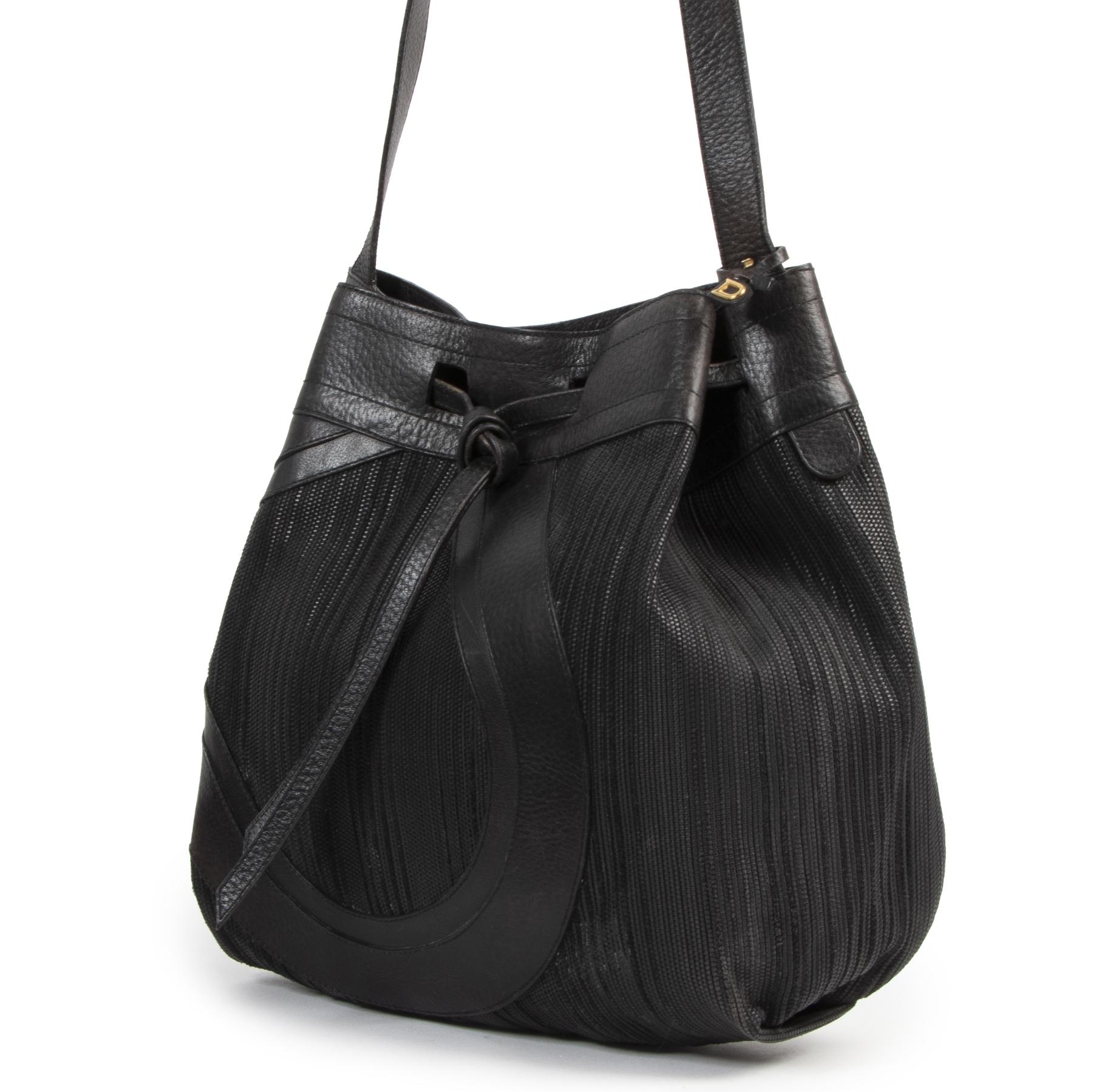 Delvaux Black Toile De Cuir Shoulder bag pour le meilleur prix chez labellov à Anvers