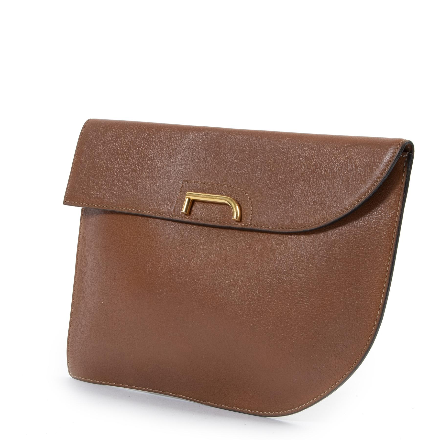 shop safe online Delvaux Cognac Clutch