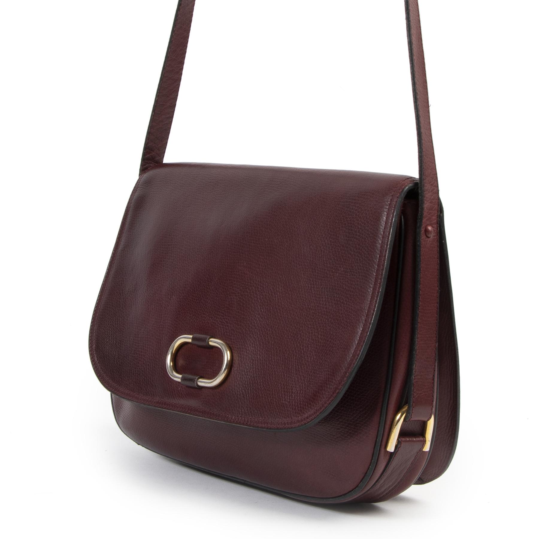 Delvaux Bordeaux Crossbody Bag