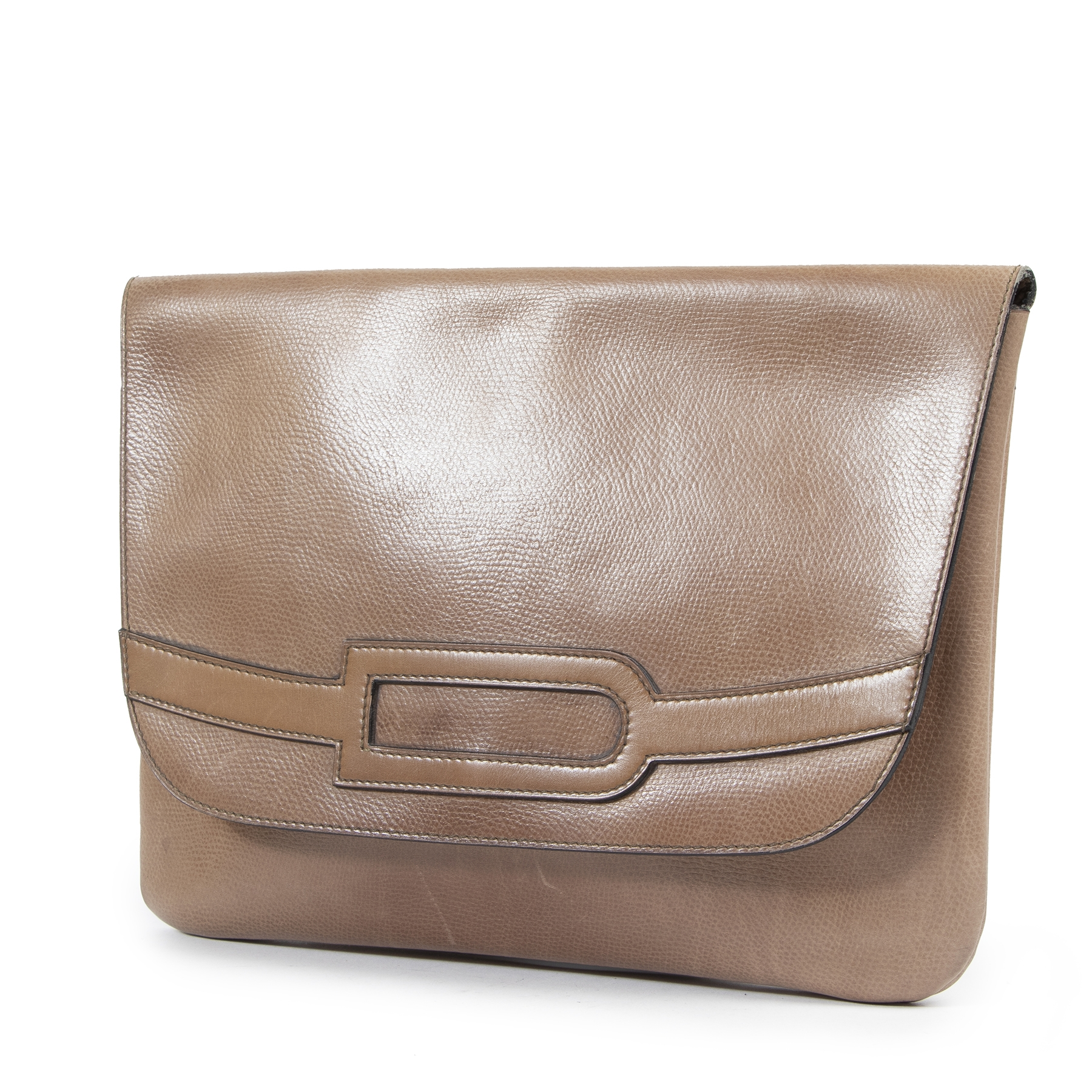 Delvaux Taupe Clutch