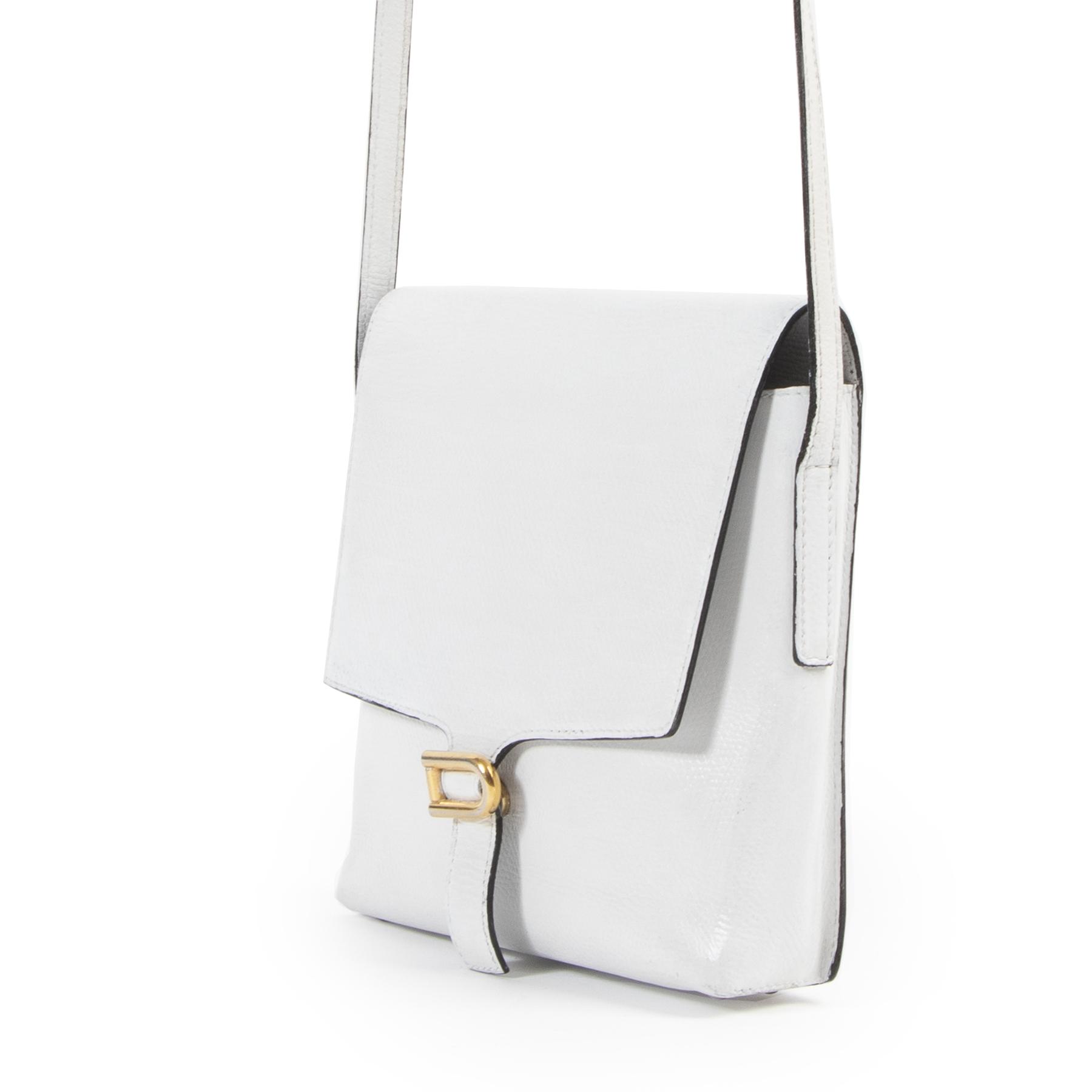 acheter en linge seconde main Delvaux White Crossbody Bag