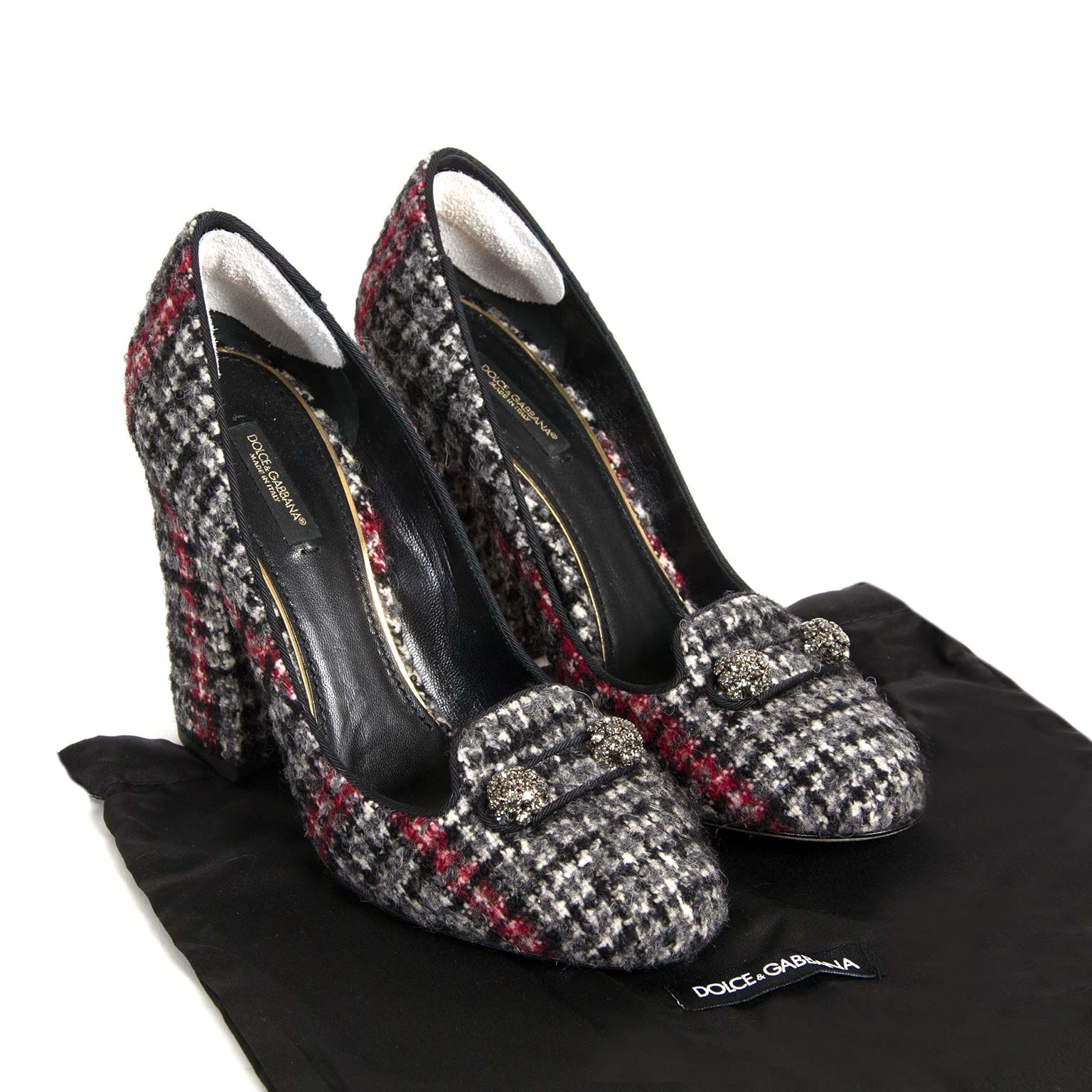 second hand authentic Dolce & Gabbana Tweed Pumps - Size 40 now for sale at labellov antwerp vintage online store for the best price