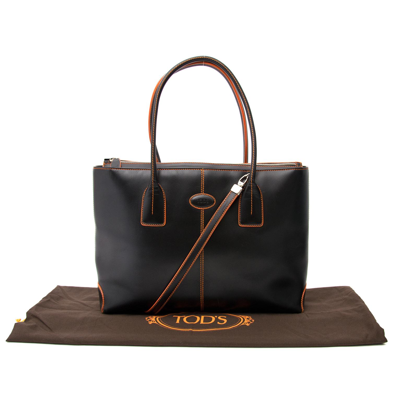 Tod's schoudertas zwart orange nu online bij labellov.com tegen de beste prijs