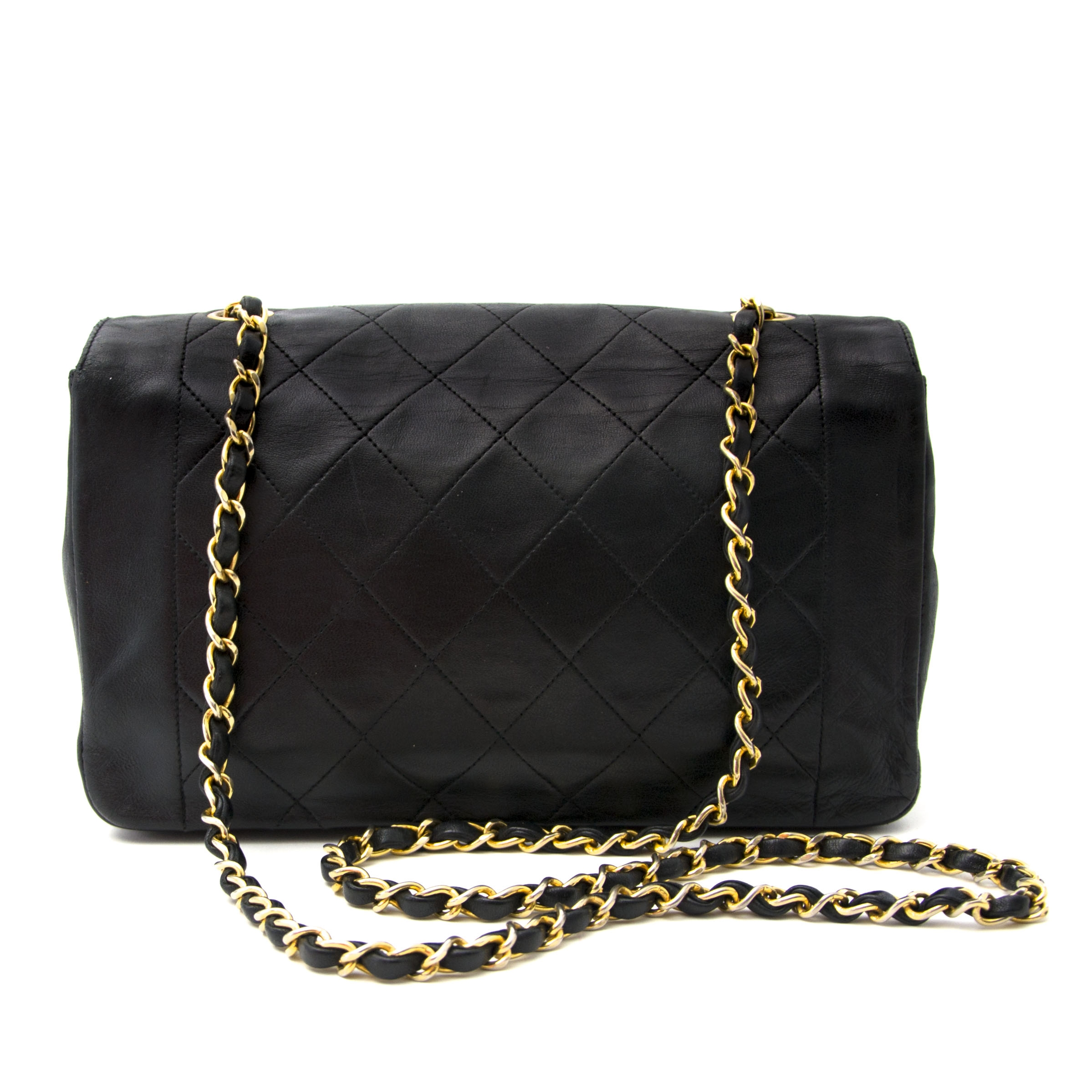 3c1f9f24365e ... Chanel Black Leather Flap Bag Buy authentic designer Chanel secondhand  bags at Labellov at the best