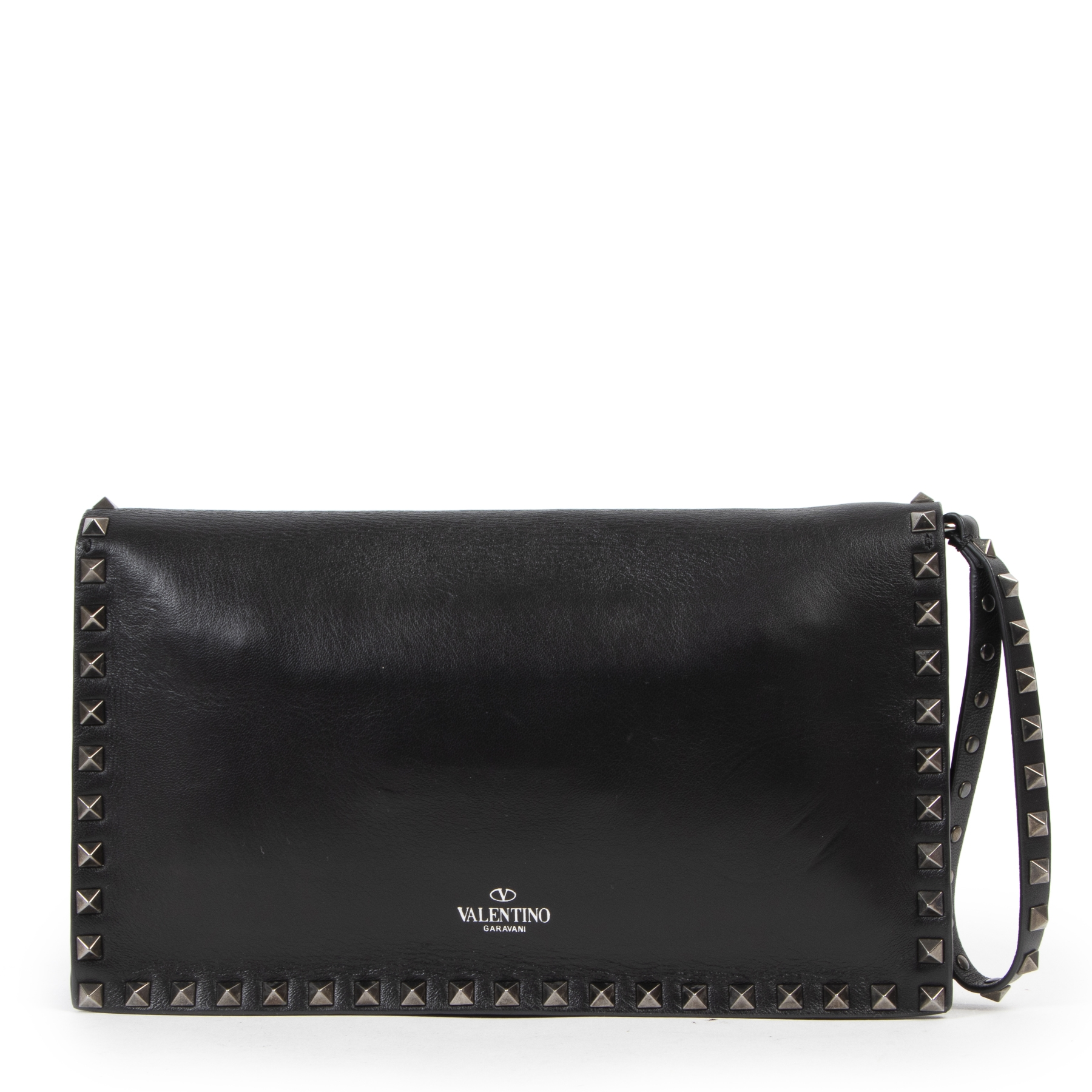 shop safe online Valentino Garavani All Black Rockstud Clutch