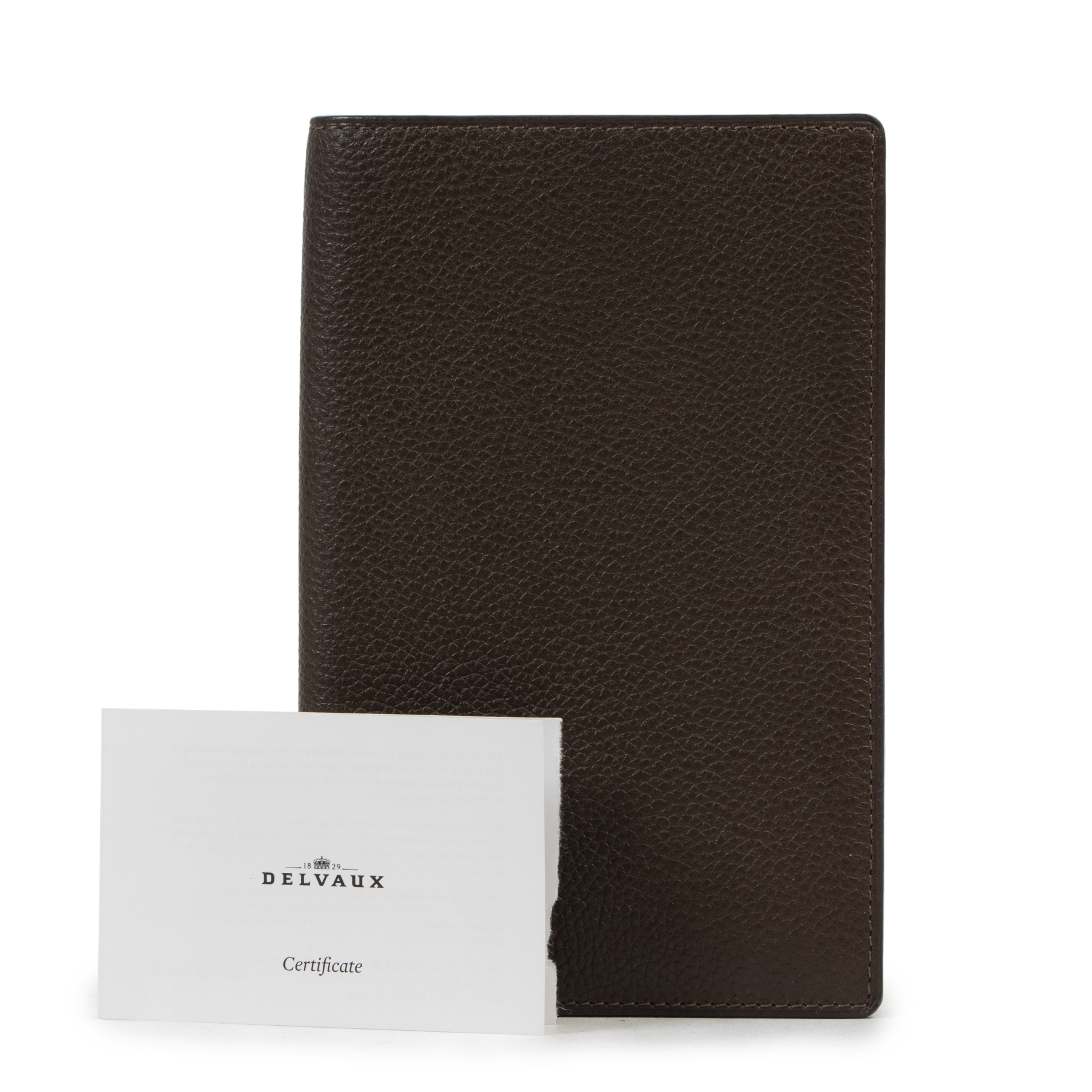 outlet nieuw Delvaux Brown Casino Jumping Grained Leather Wallet