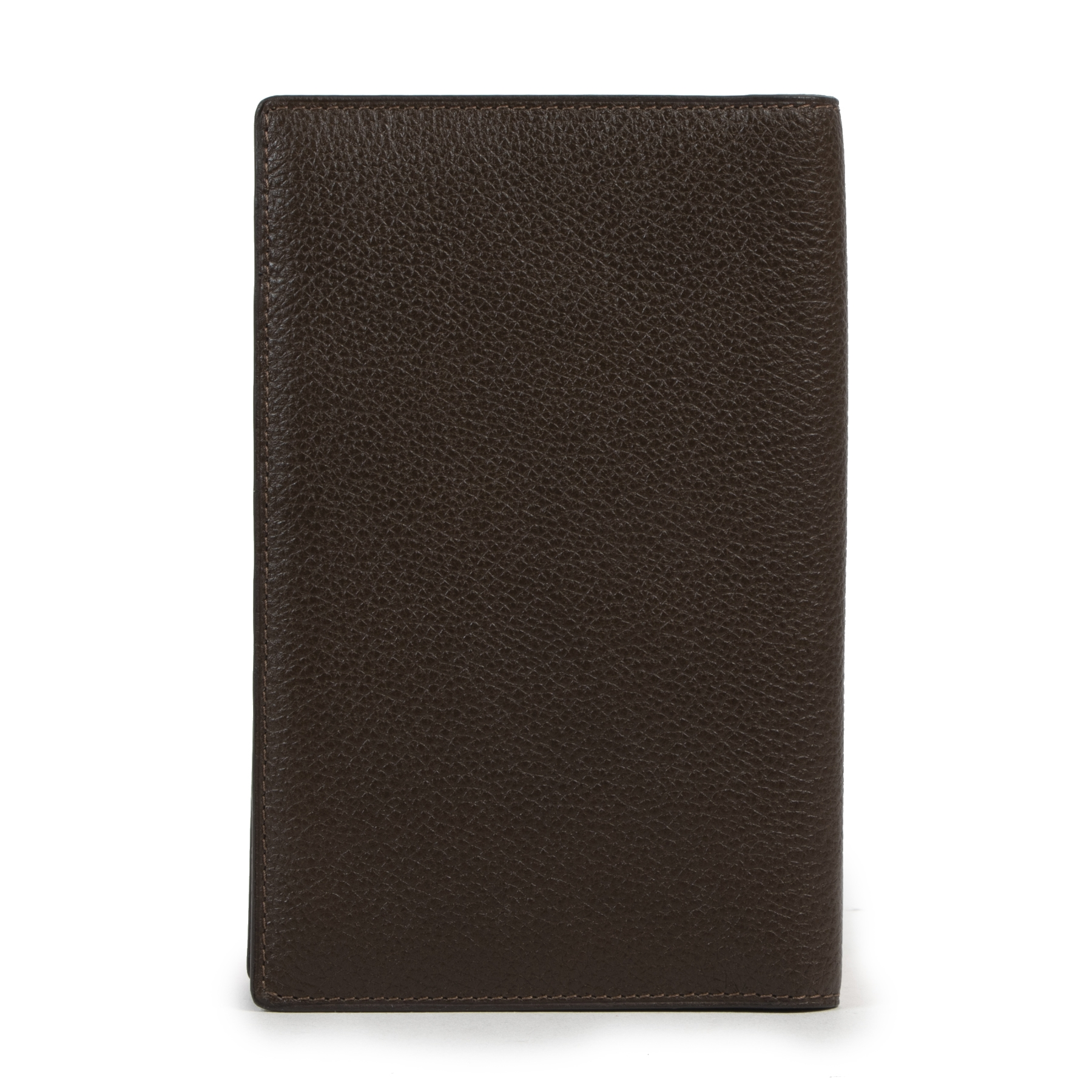 acheter en lingne seconde main Delvaux Brown Casino Jumping Grained Leather Wallet