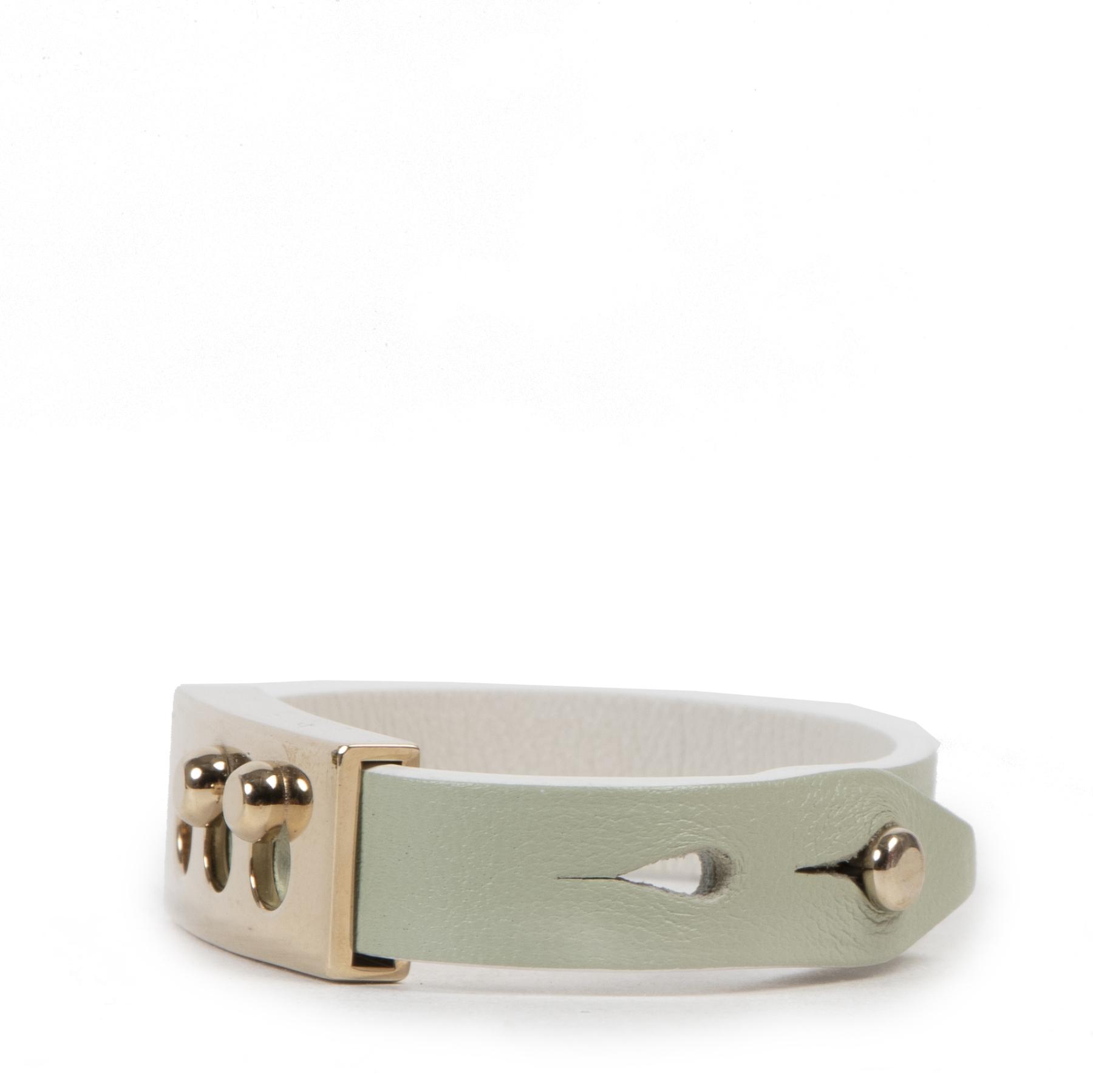 Delvaux Mint Green Tempête Wrap Bracelet  shop safe online at the best price