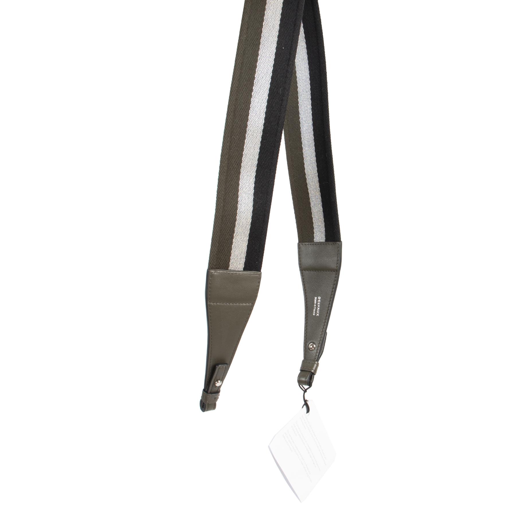 Delvaux Khaki Black Silver Sangle Shoulder Strap kopen en verkopen aan de beste prijs bij Labellov tweedehands luxe