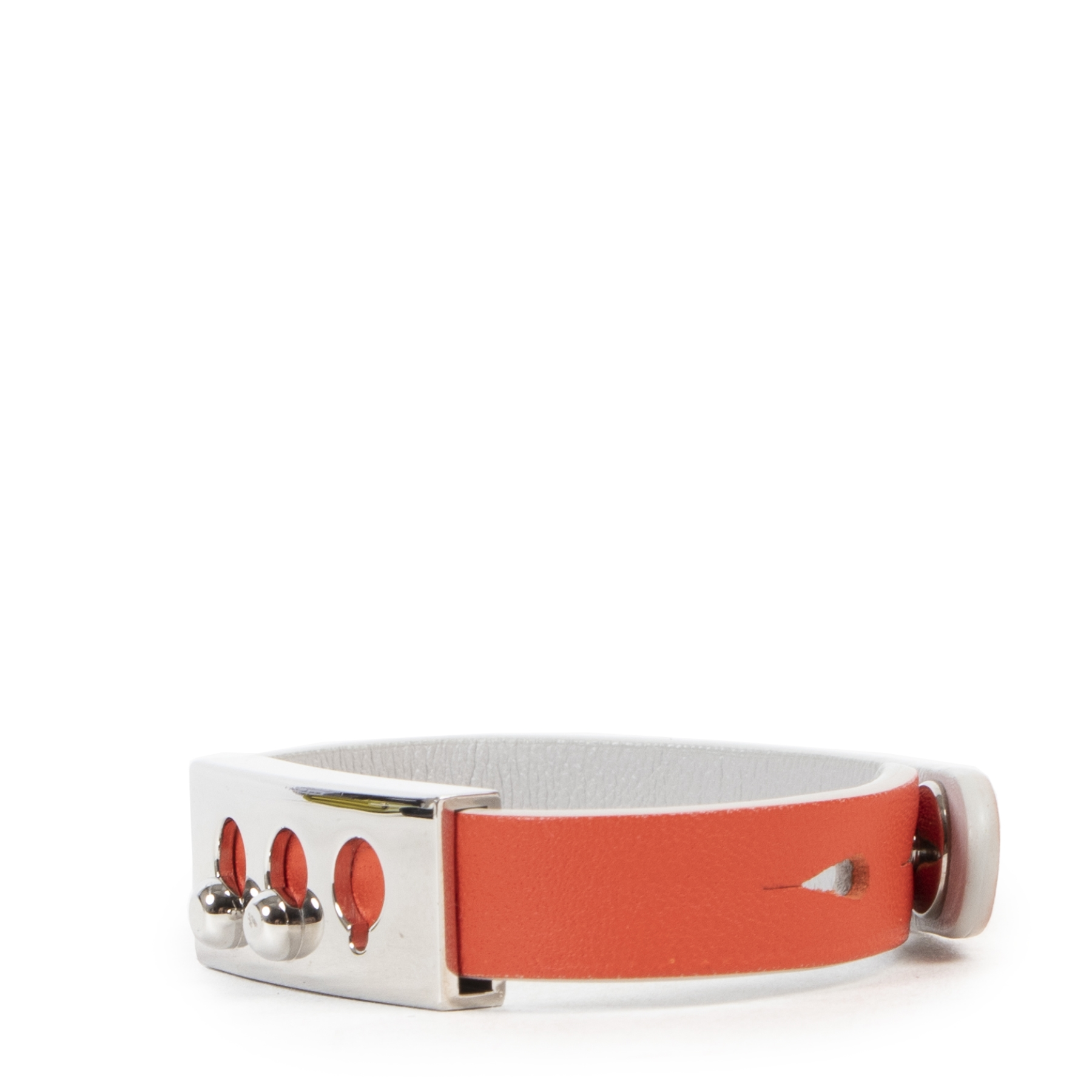Delvaux Coral Silver Tempete Wrap Bracelet acheter en ligne seconde main