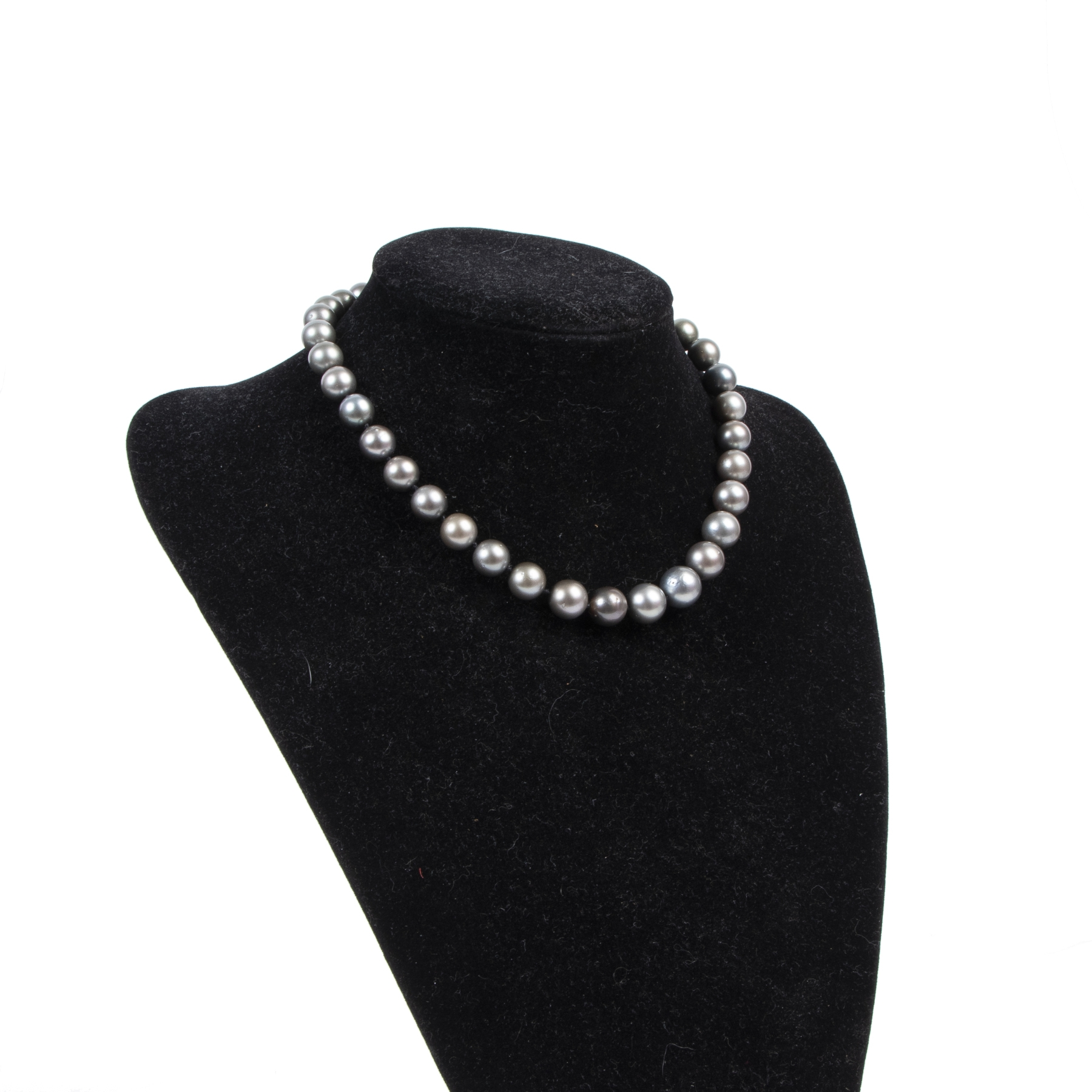 Authentic secondhand Bulgari Grey Pearl Necklace designer accessories fashion luxury vintage webshop safe secure online shopping