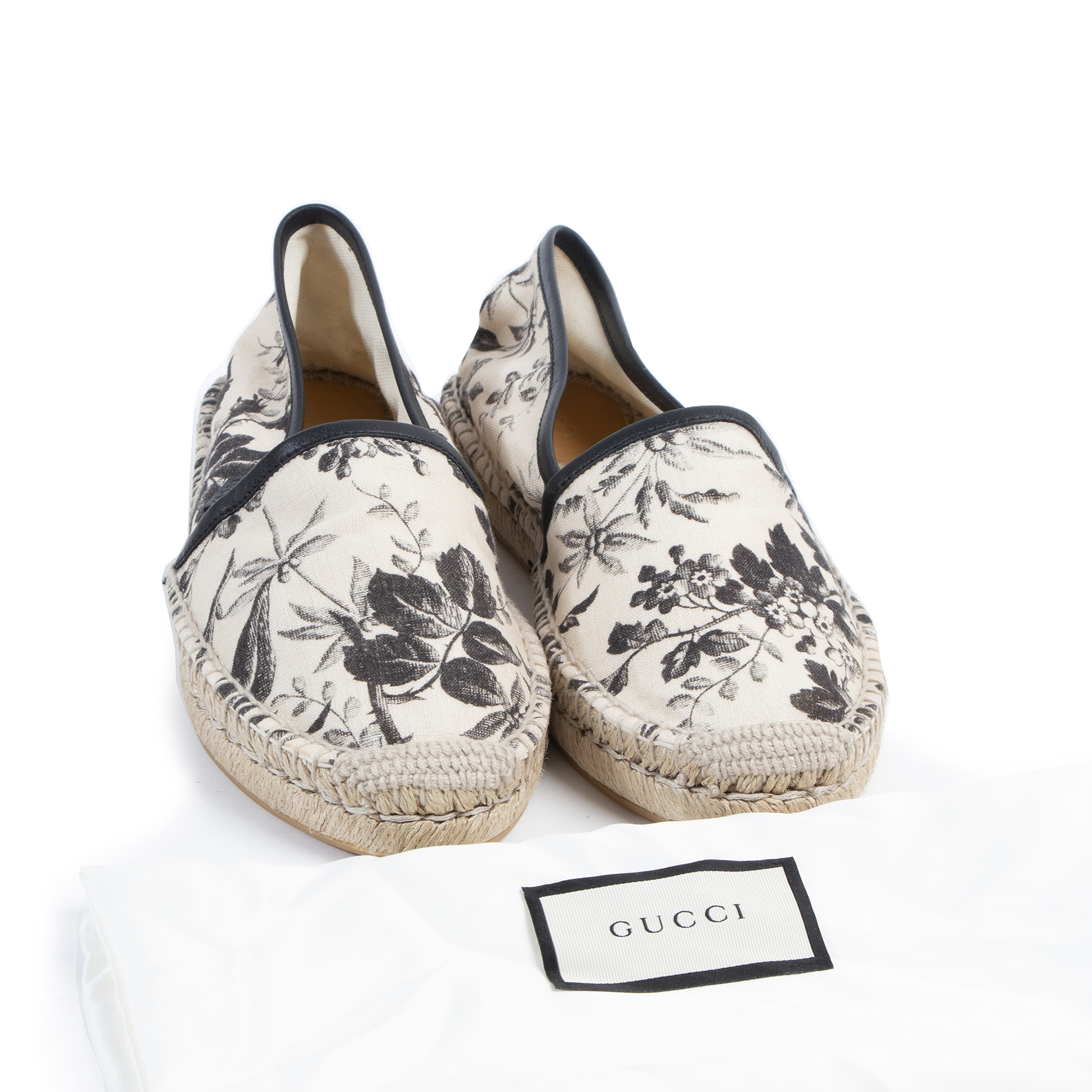 Authentic secondhand Gucci Pilar Floral-Print Canvas Espadrilles designer shoes fashion luxury vintage webshop safe secure online shopping