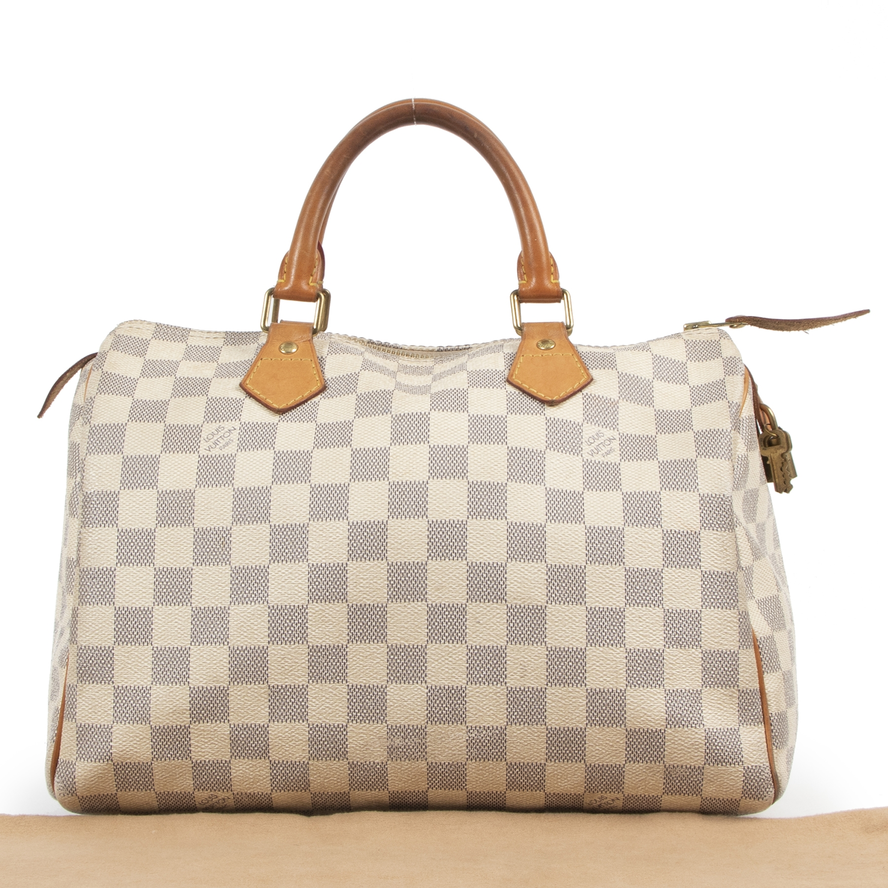 Authentic secondhand Louis Vuitton Damier Azur Speedy 30 Bag designer bags fashion luxury vintage webshop safe secure online shopping