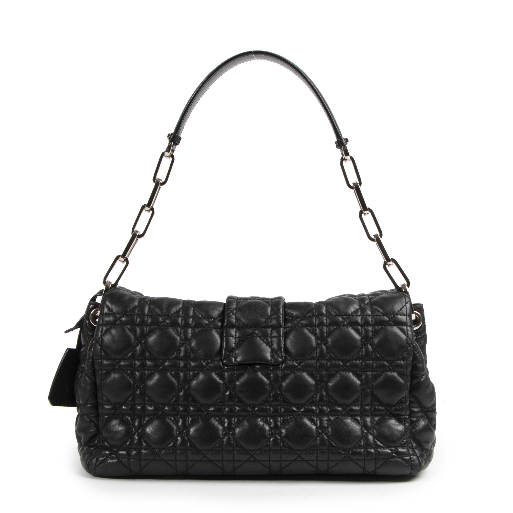 Dior Black Cannage Quilted Lambskin Leather Miss Dior Flap Shoulder Bag