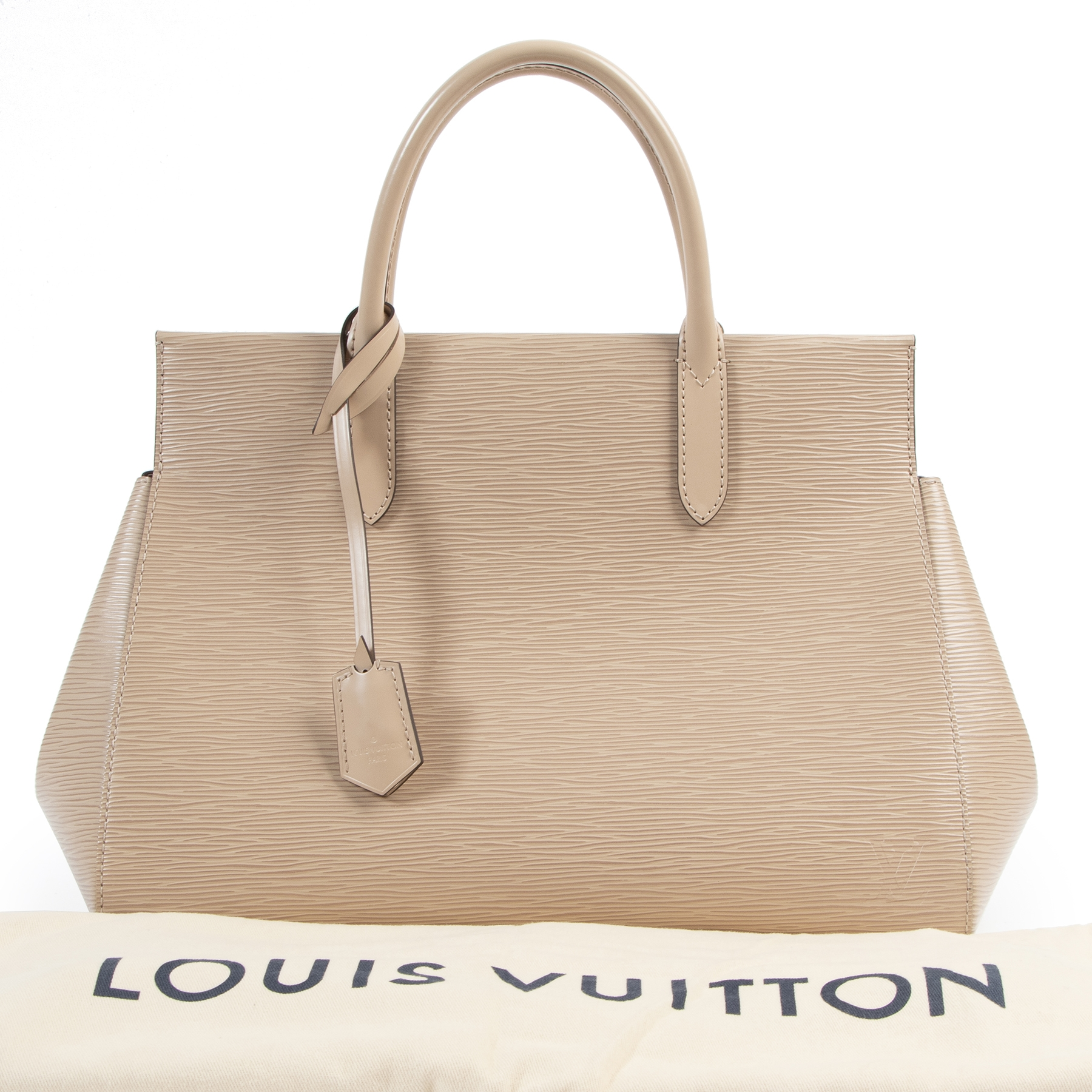 pour le meilleur prix seconde main koop veiig online Louis Vuitton Nude/Beige Epi Marly Shoulder Bag