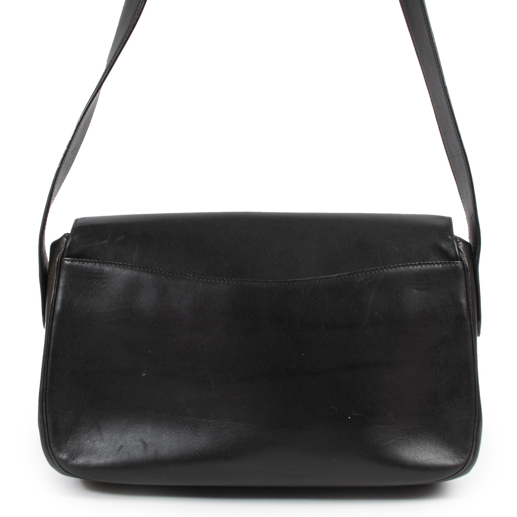 Authentieke Tweedehands Cartier Black Leather Panthère Crossbody Bag juiste prijs veilig online shoppen luxe merken webshop winkelen Antwerpen België mode fashion