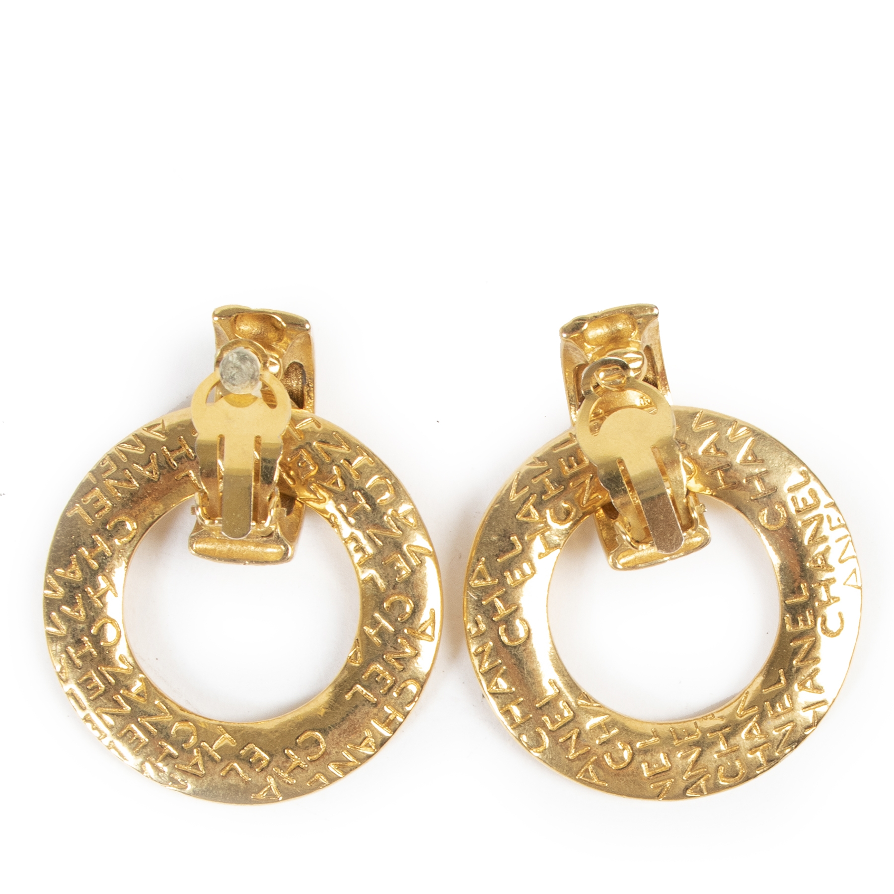 Chanel Gold Hoop Clip-on Earrings for the best price at labellov