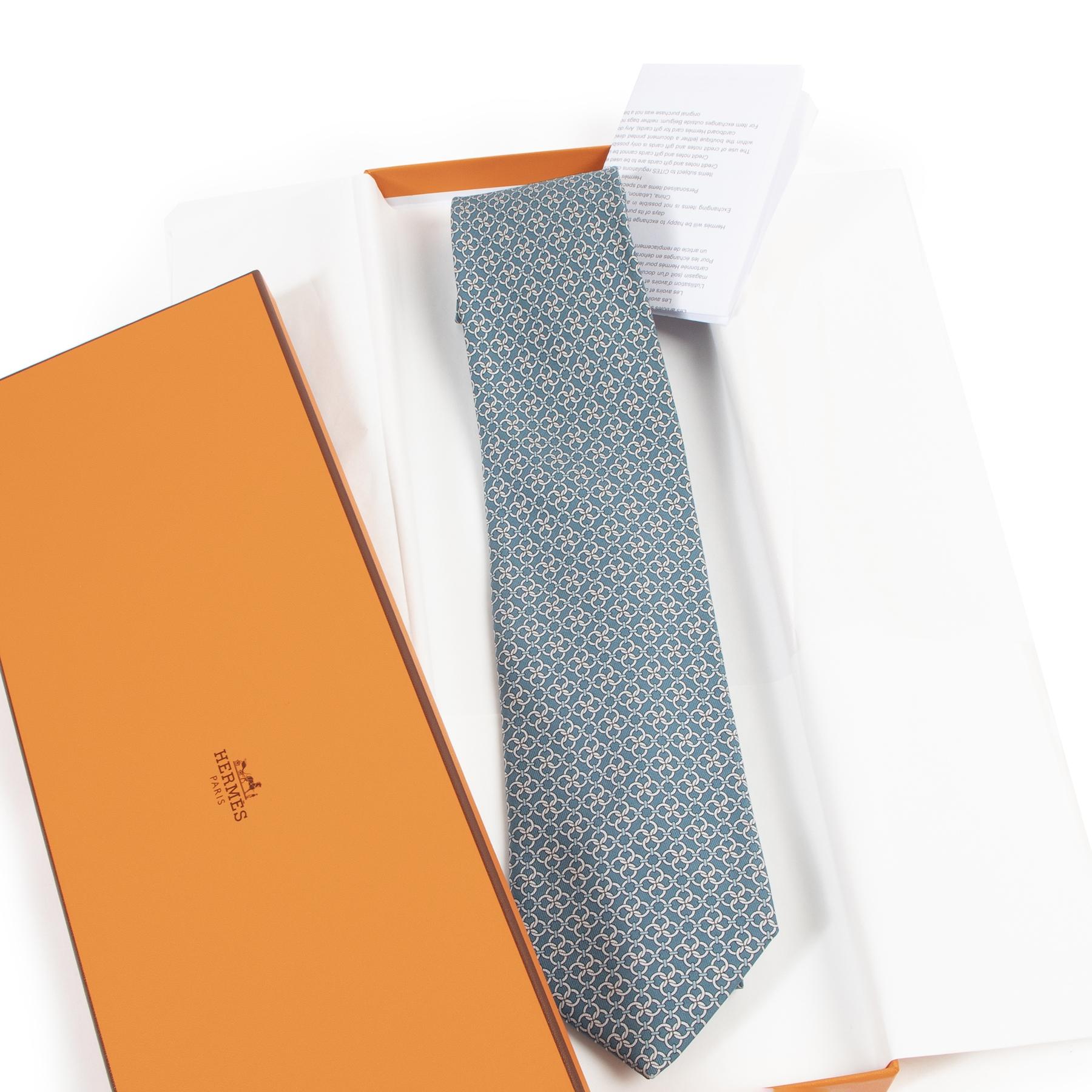 Hermès Cravate Twill Terre de H Tie te koop aan de beste prijs bij Labellov