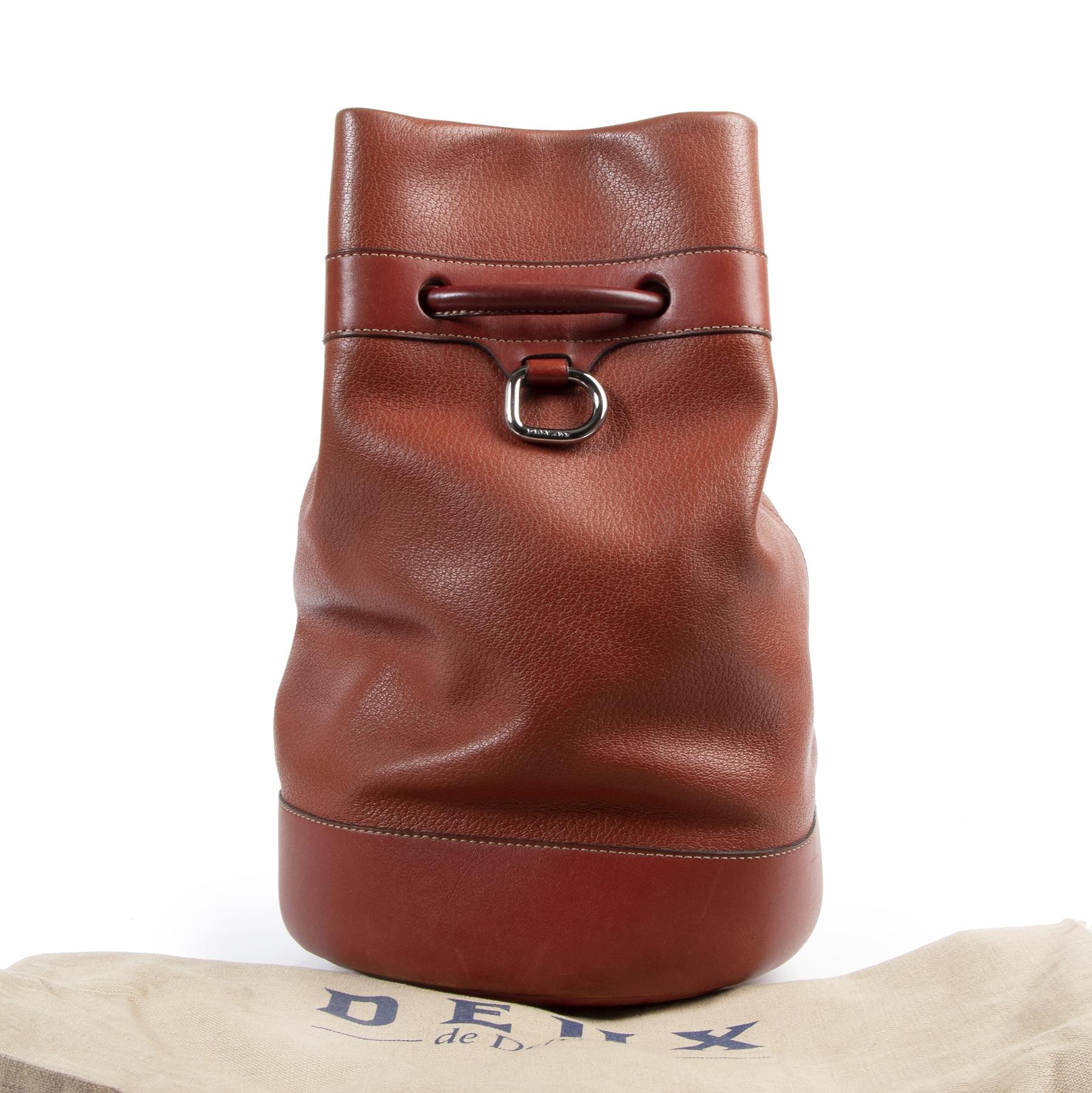 Delvaux Deux de Delvaux Rust Bucket Bag