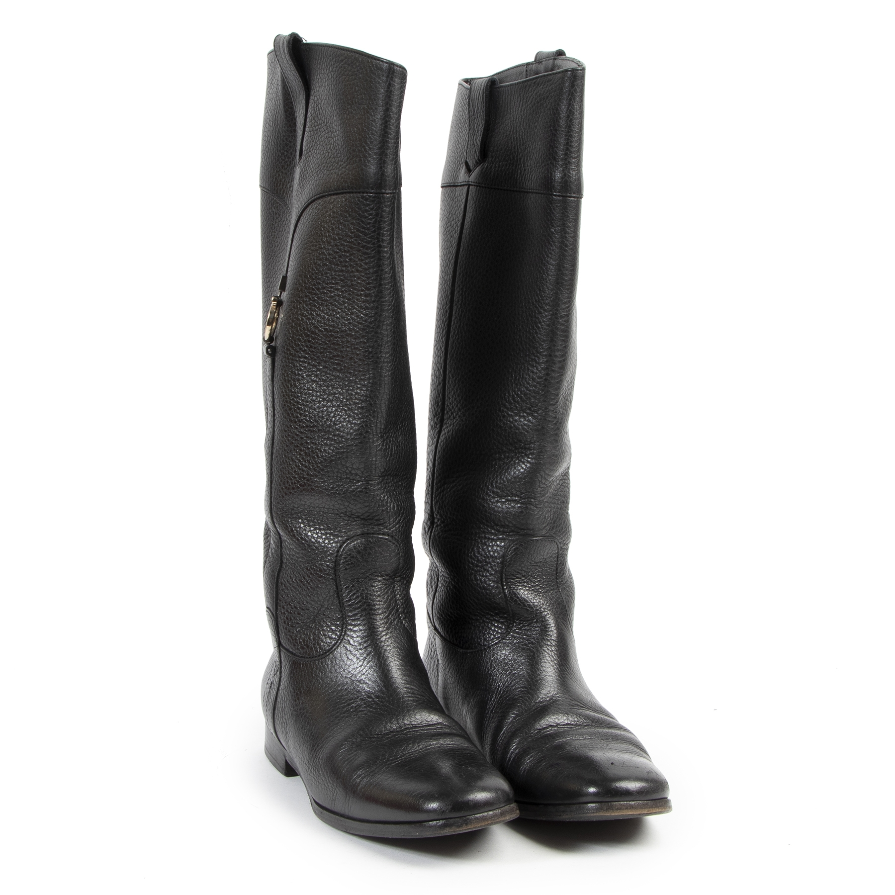 Salvatore Ferragamo Black Boots for the best price at Labellov secondhand luxury