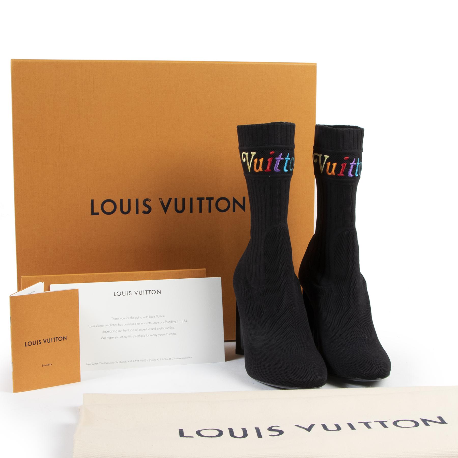 Koop en verkoop uw authentieke designer handtassen en accessoires zoals Louis Vuitton Silhouette Ankle Boots - size 37.5