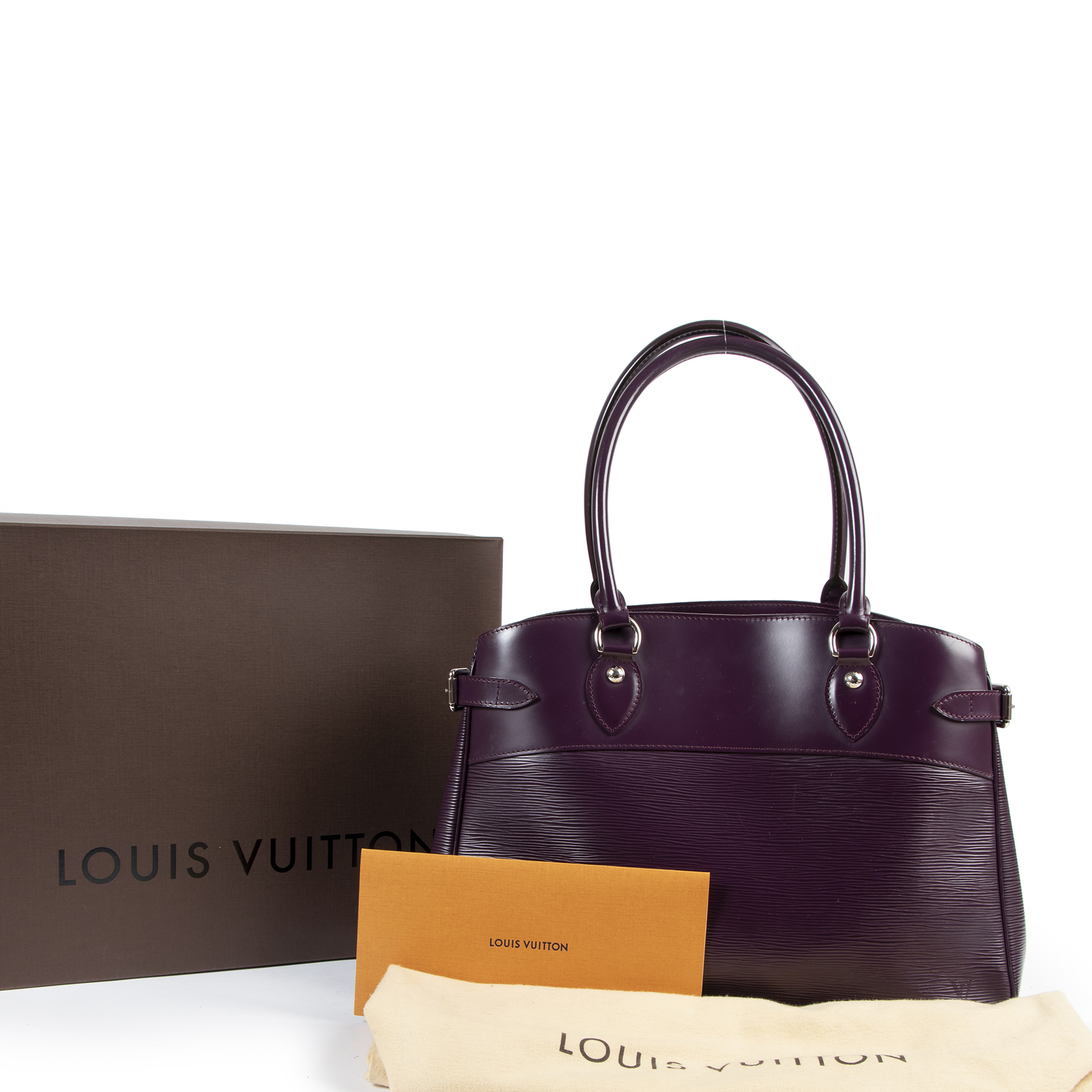 Louis Vuitton Epi Leather Purple Passy GM