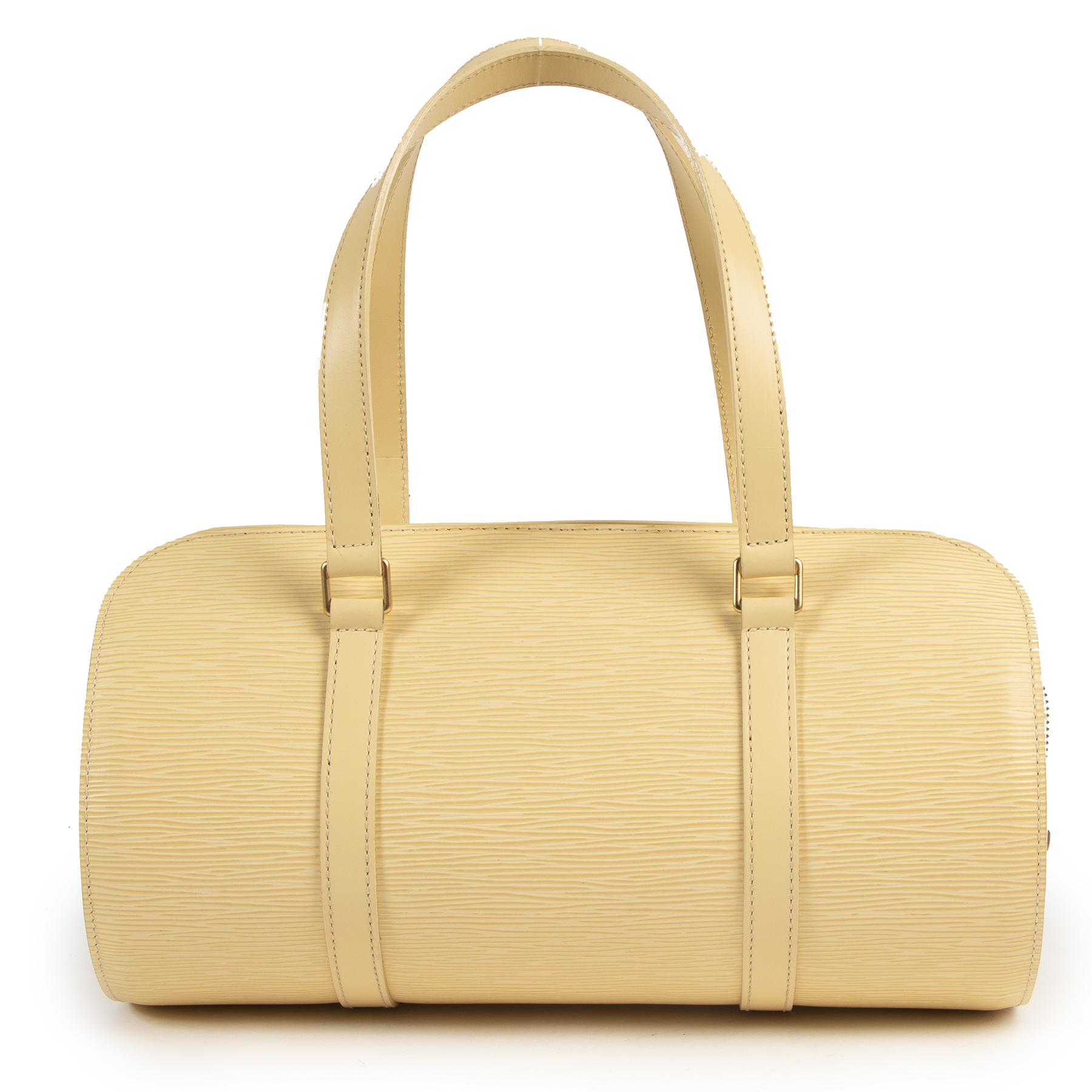 Louis Vuitton Cream Epi Papillon Bag