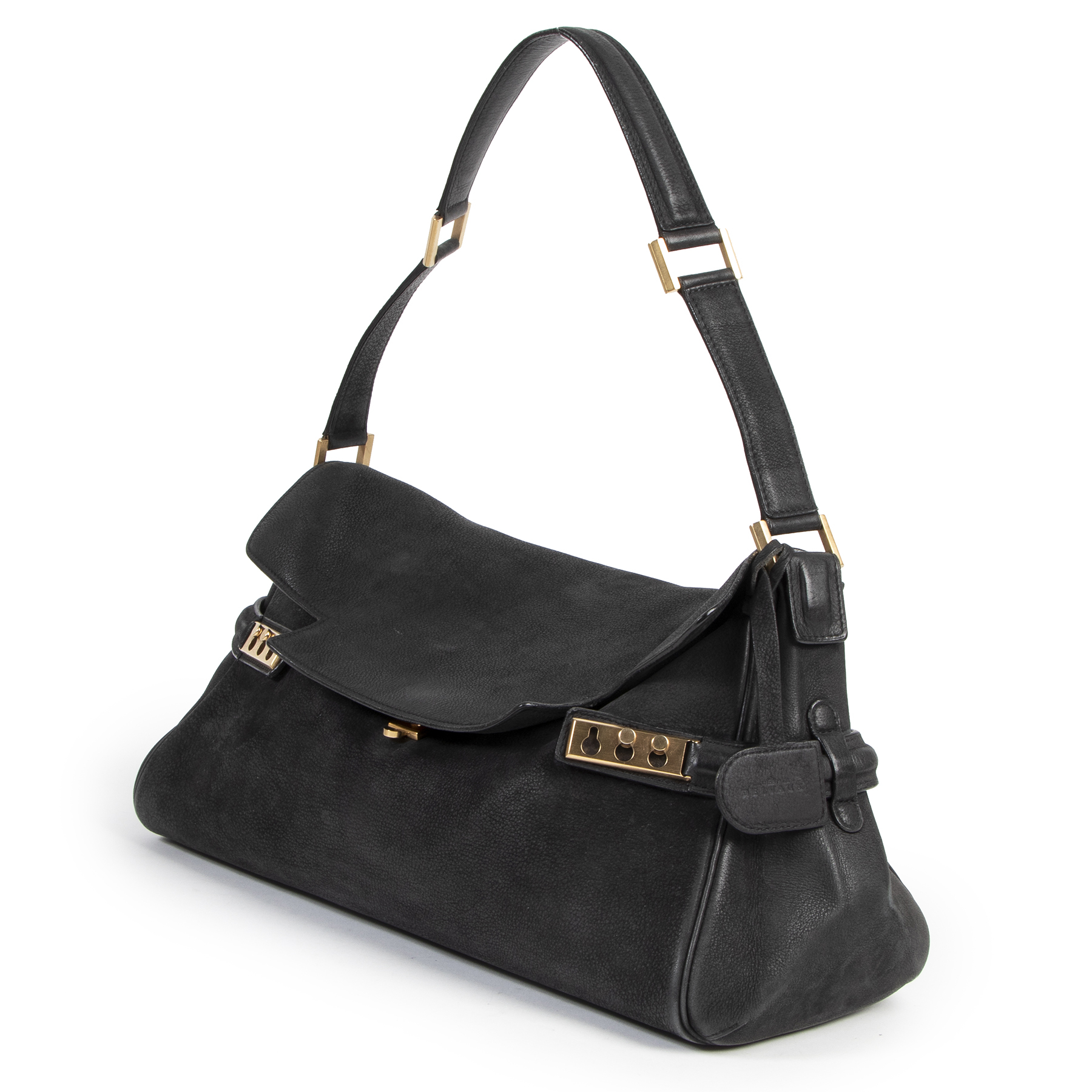 Delvaux Black Tempete Souple for the best price online available at Labellov preloved and new designer bags and accessories.