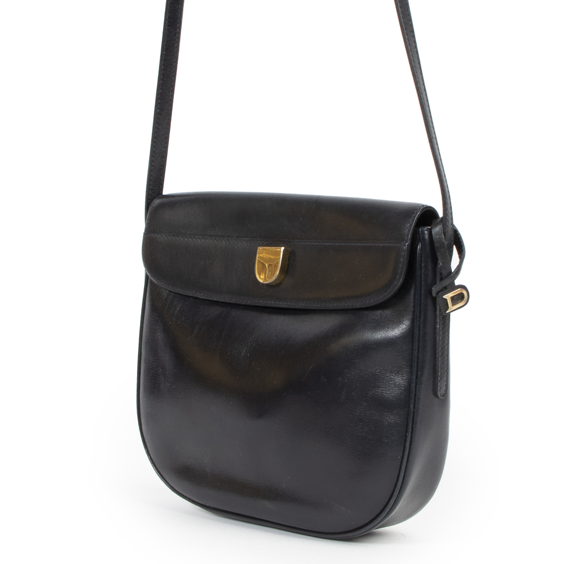 Delvaux Navy Blue Cross Body Bag