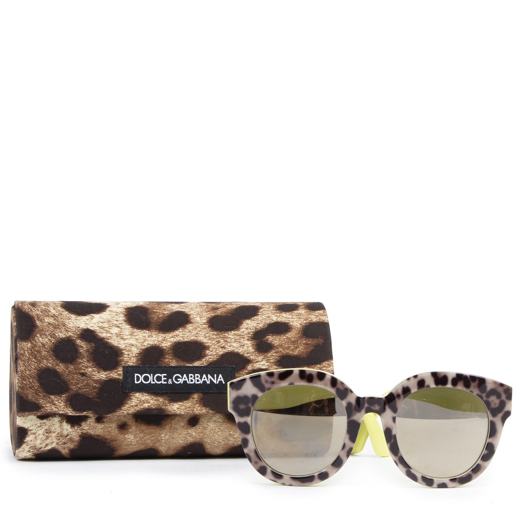 Dolce & Gabbana Leopard and Yellow Sunglasses