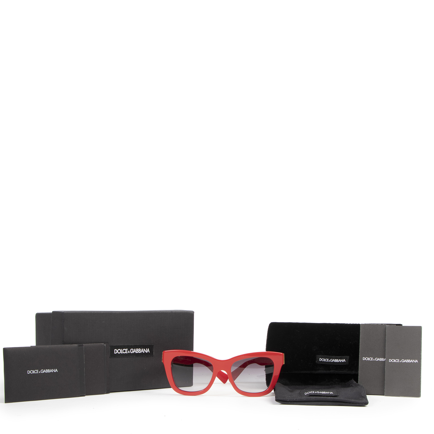 Dolce & Gabbana Red Sunglasses