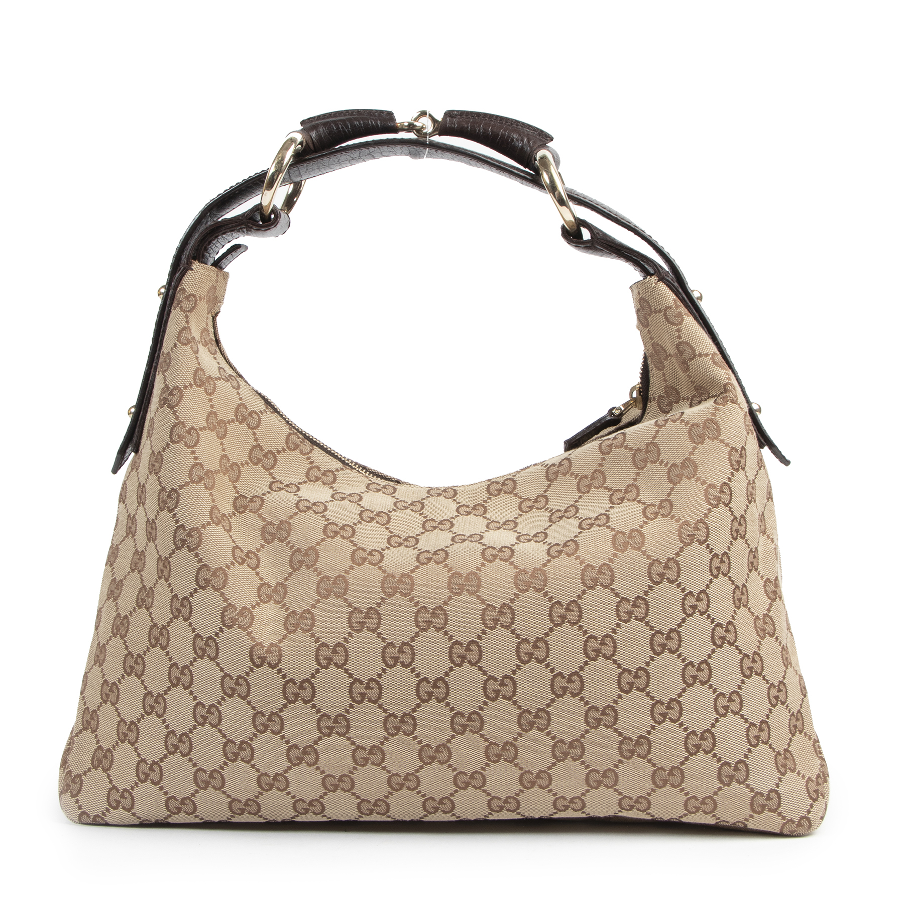 Authentic secondhand Gucci Monogram GG Shoulder Bag designer bags fashion luxury vintage webshop safe secure online shopping