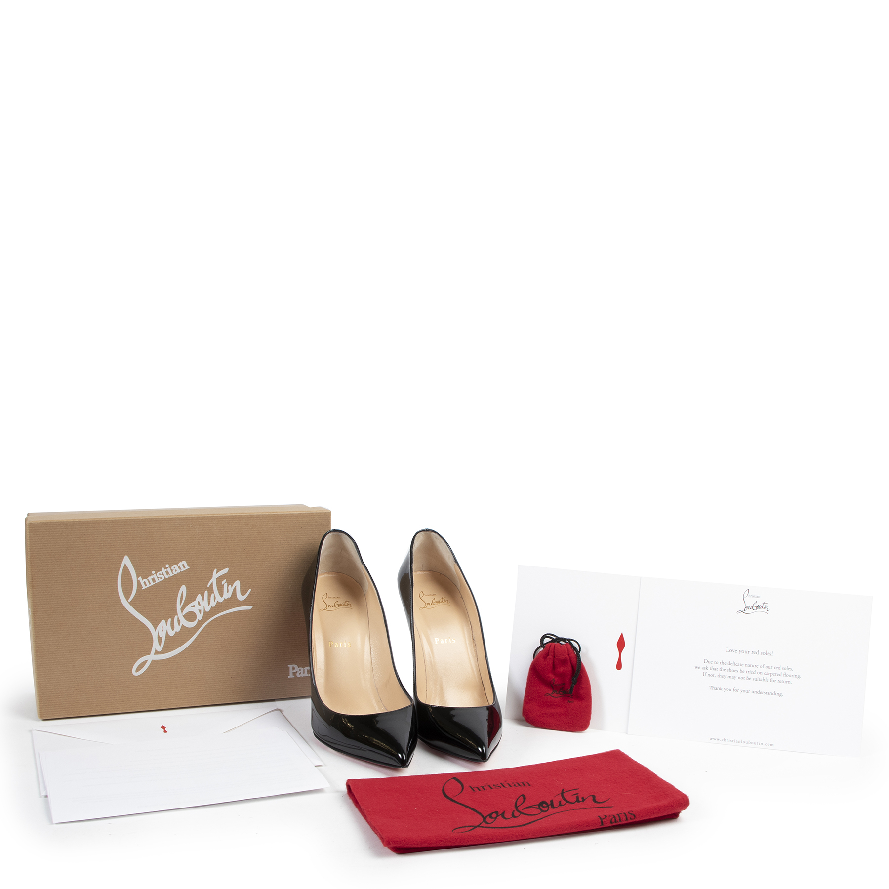 Christian Louboutin Black Patent Pigalle Follies 100 - size 41