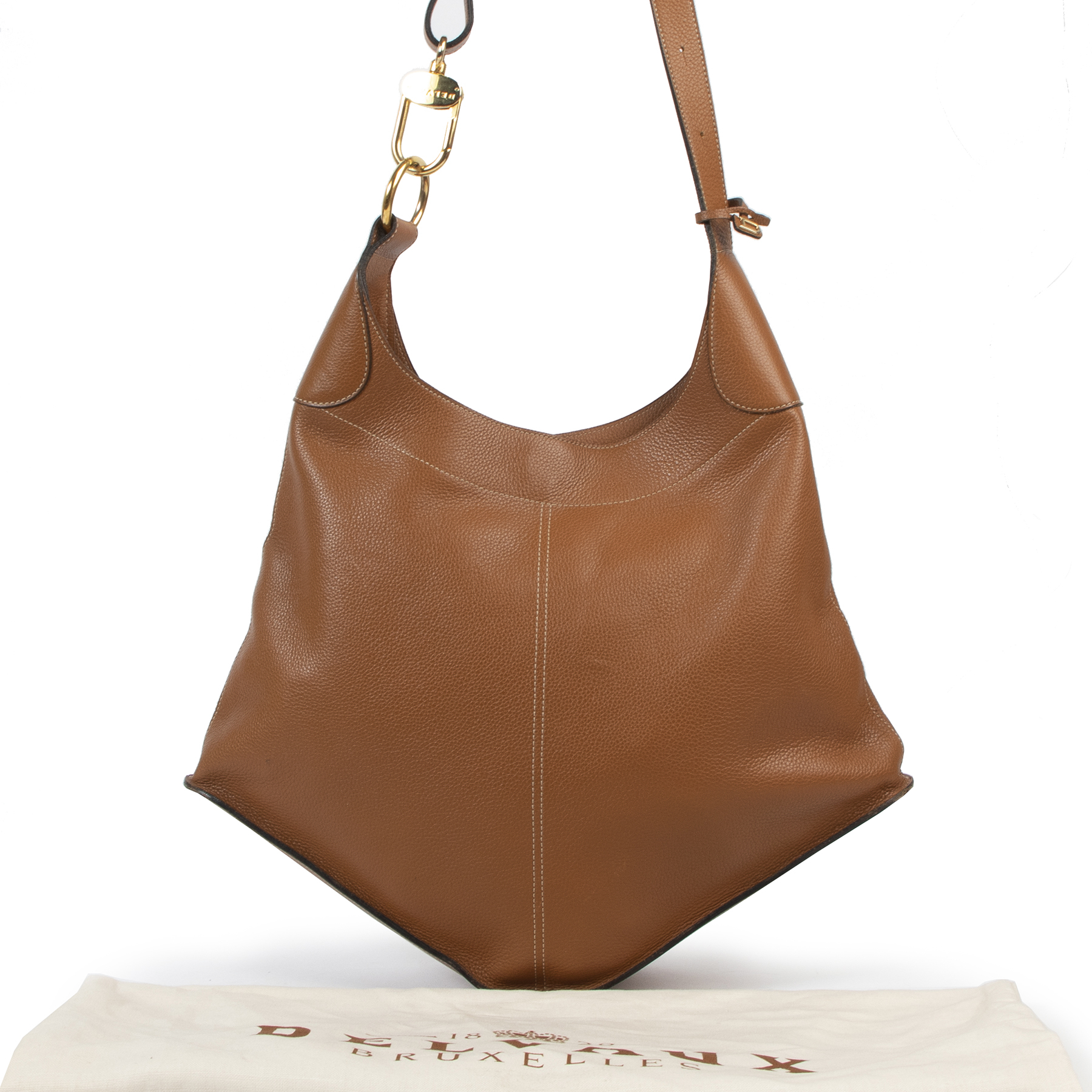 Delvaux Cognac Satan Bag