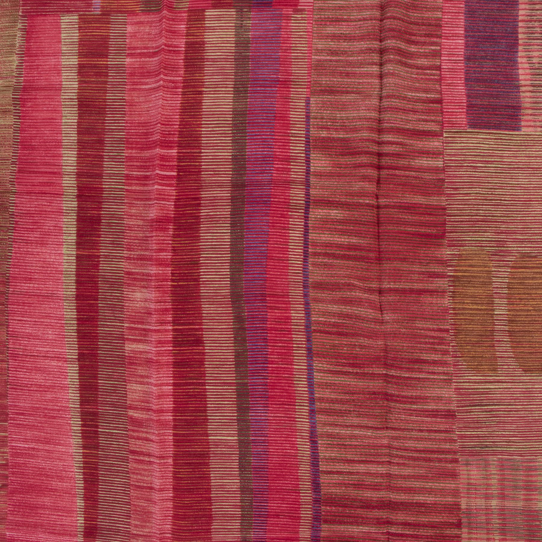 Authentieke Tweedehands Delvaux Red Silk Pattern Scarf juiste prijs veilig online shoppen luxe merken webshop winkelen Antwerpen België mode fashion