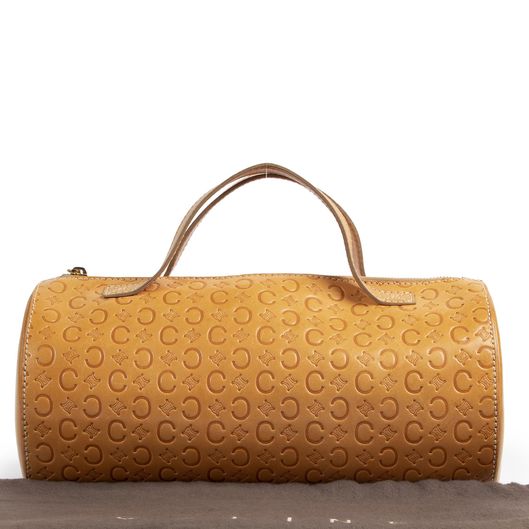Celine Paris Vintage Round Top Handle Bag