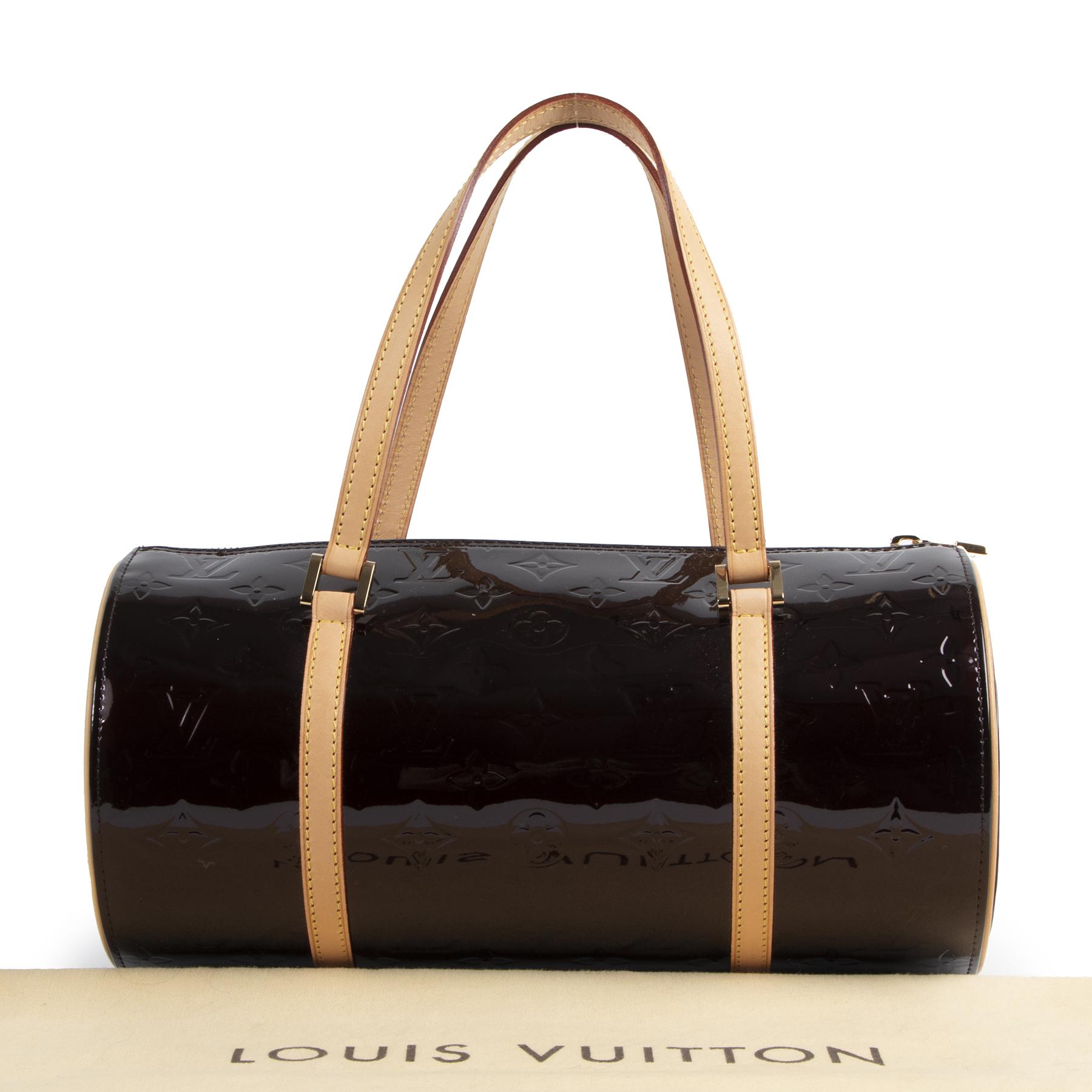 Louis Vuitton Burgundy Patent Leather Bedford Bag